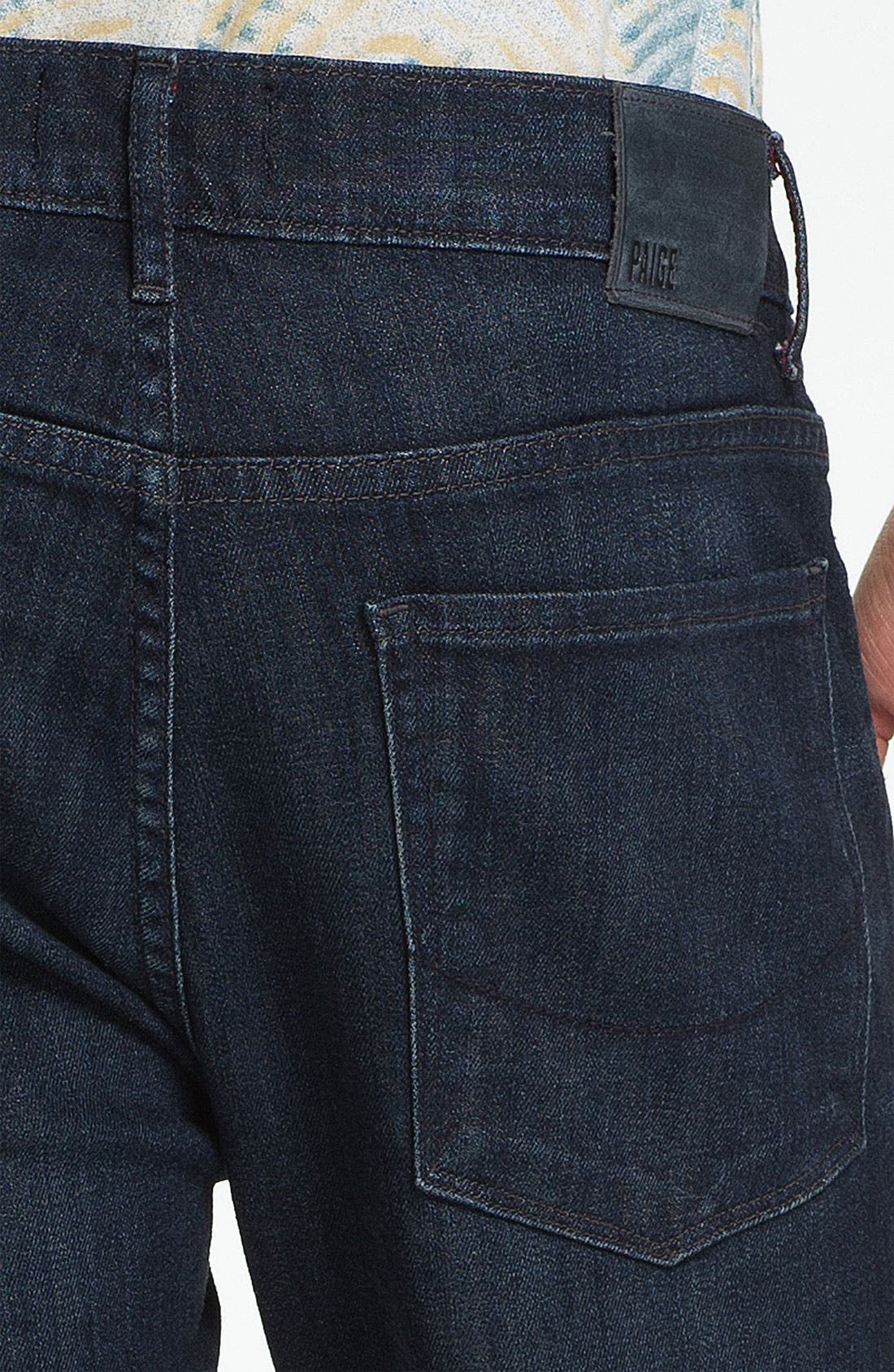 Alternate Image 4  - PAIGE 'Federal' Slim Straight Leg Jeans (Stingray)
