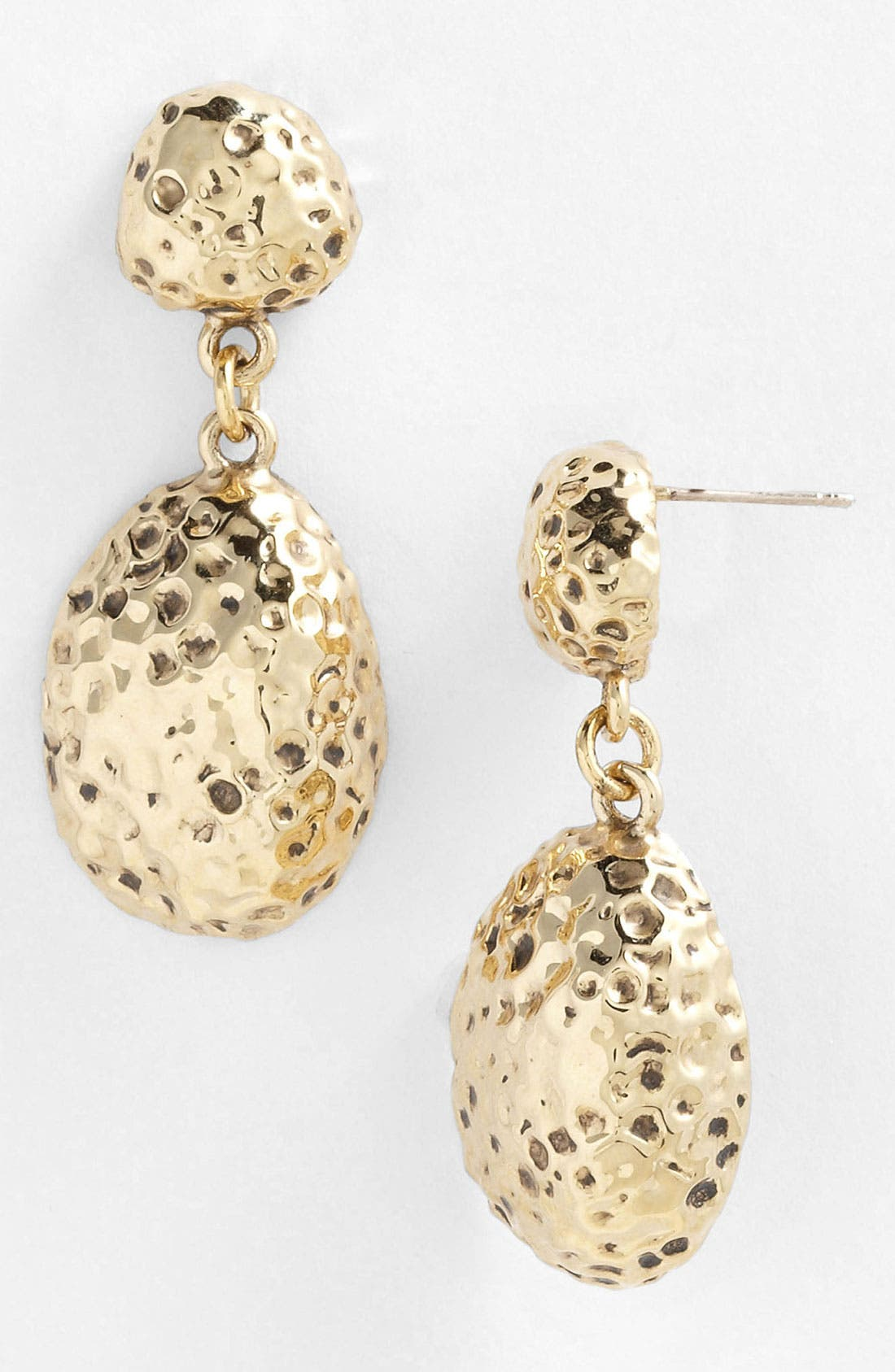 Main Image - St. John Collection Hammered Drop Earrings