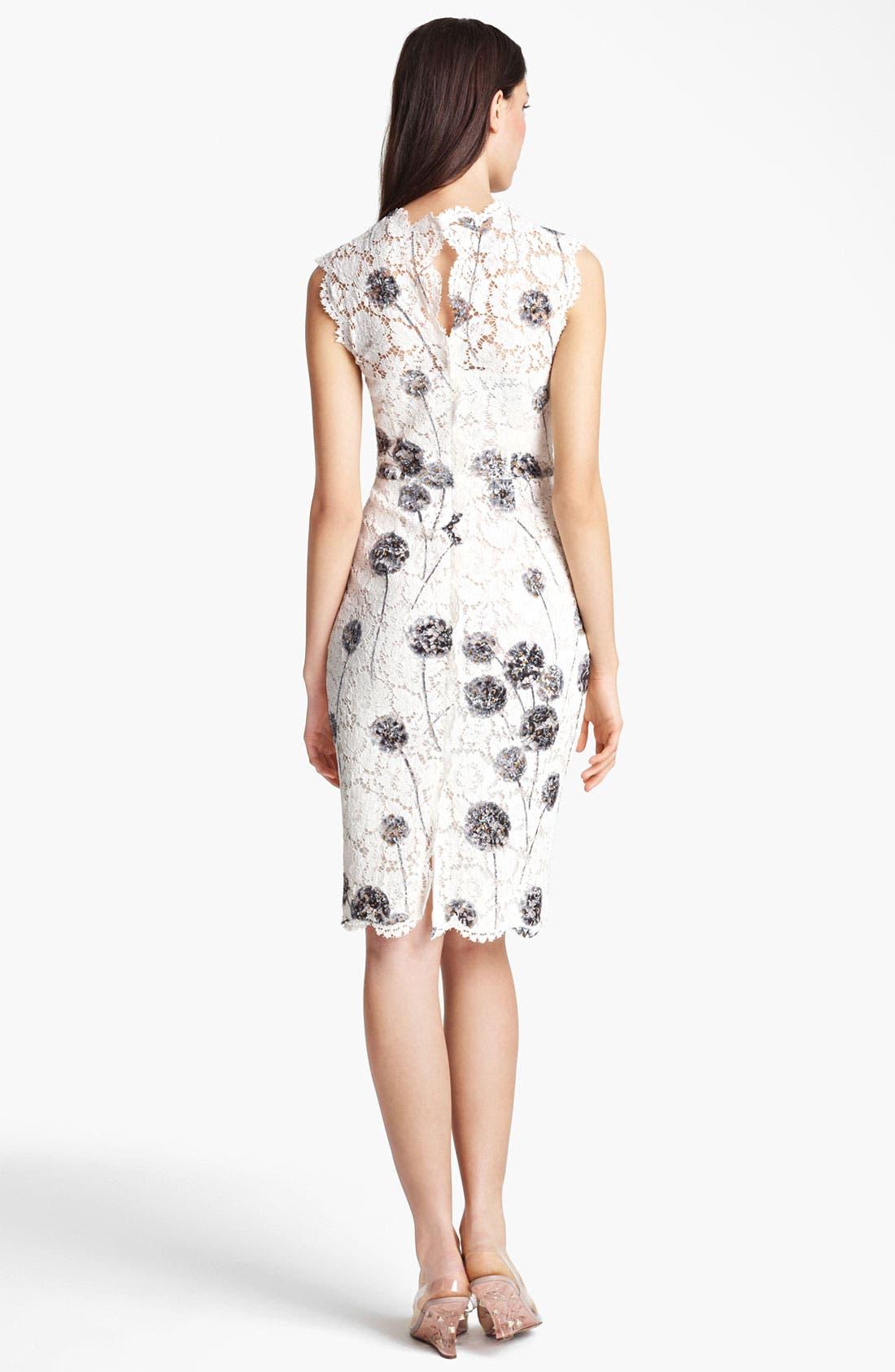 Alternate Image 2  - Valentino Scalloped Edge Lace Dress
