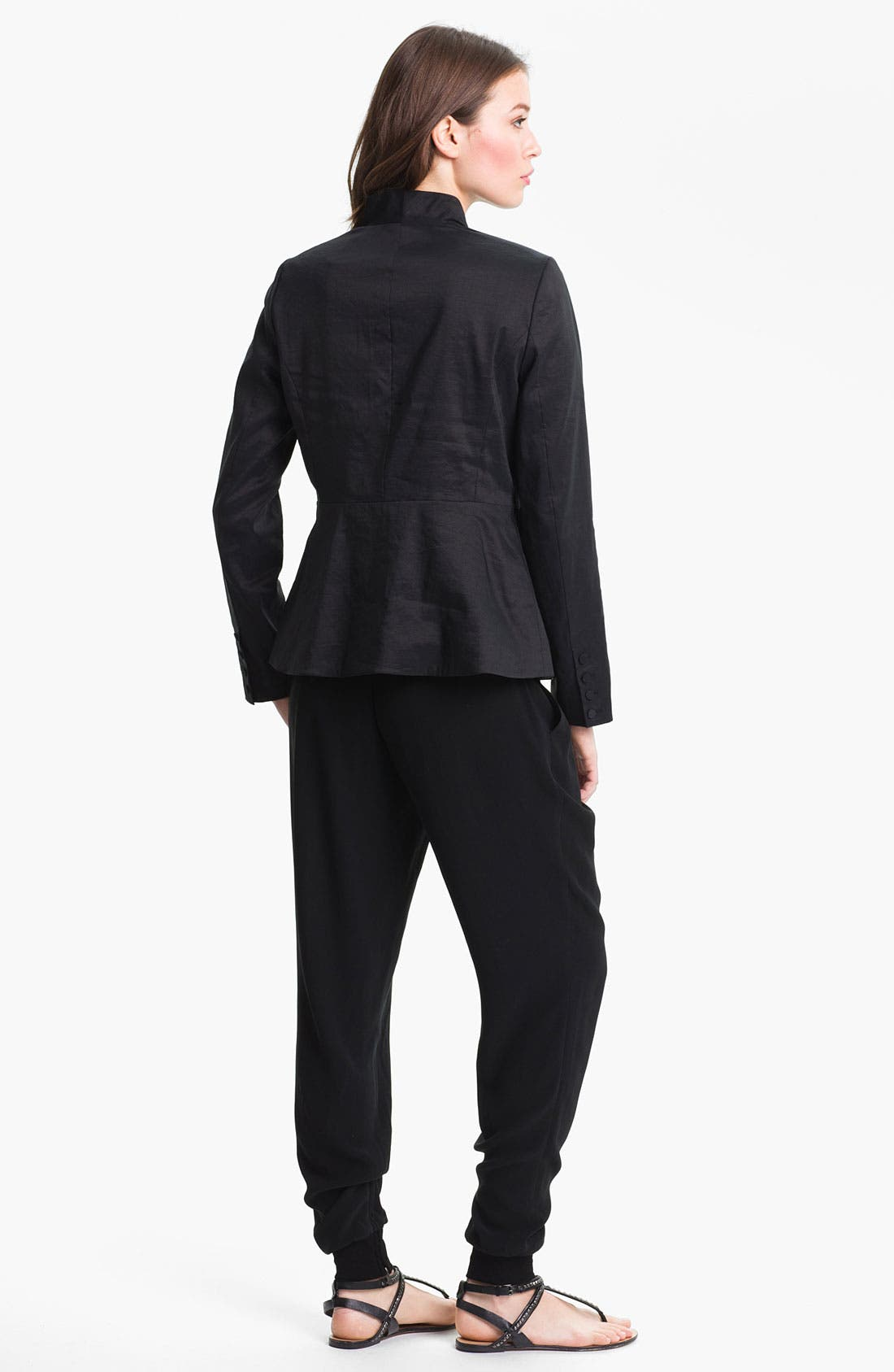 Alternate Image 5  - Eileen Fisher High Collar Peplum Jacket