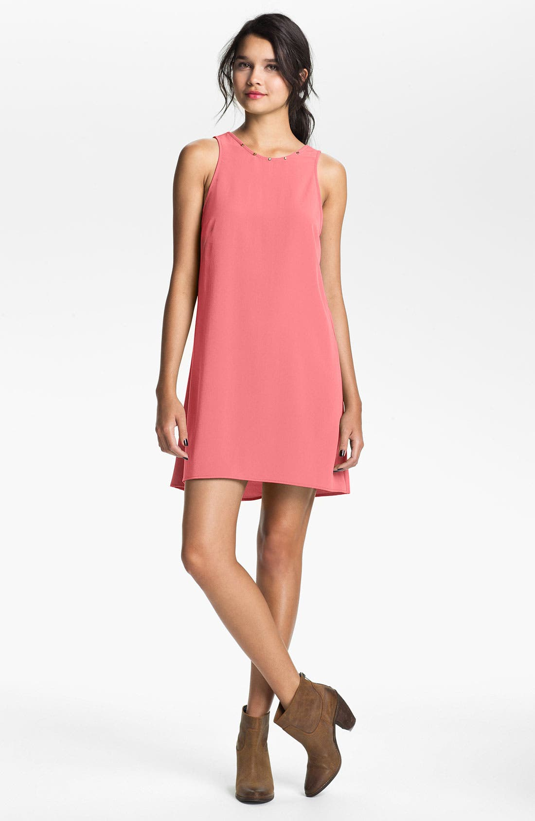 Alternate Image 1 Selected - Lush Studded Shift Dress (Juniors)