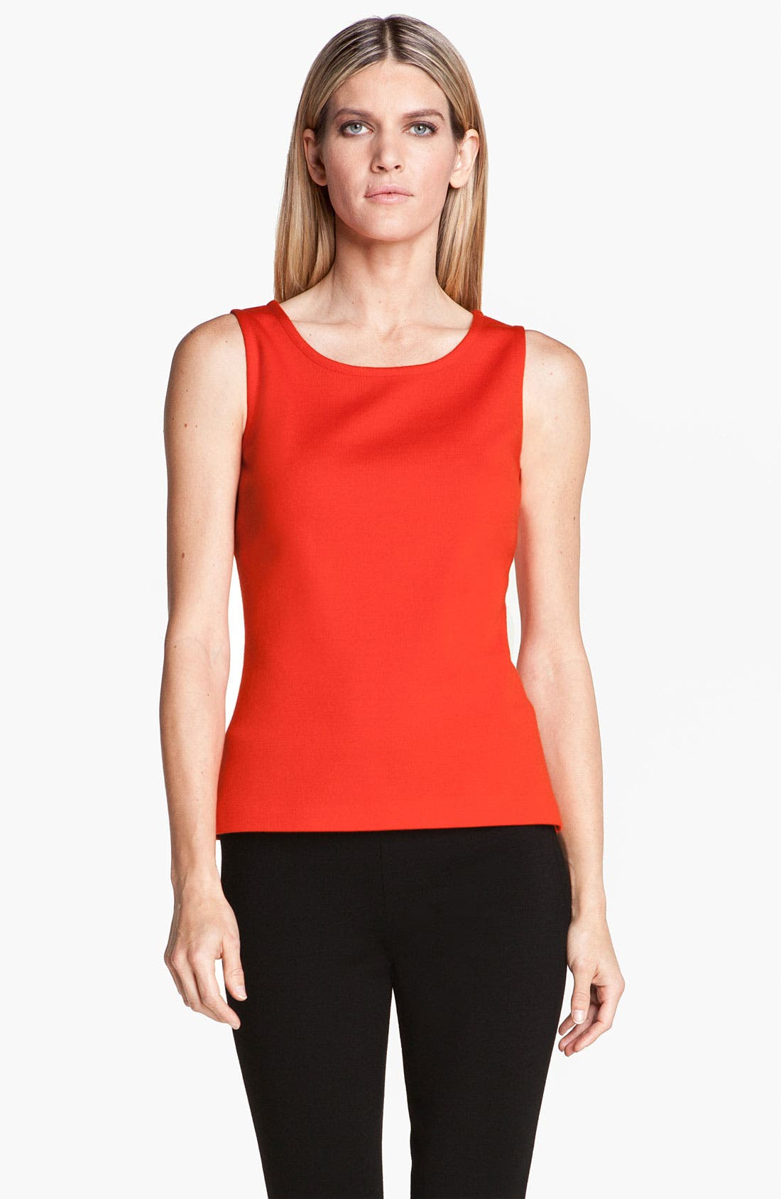 Main Image - St. John Collection Scoop Neck Milano Knit Shell