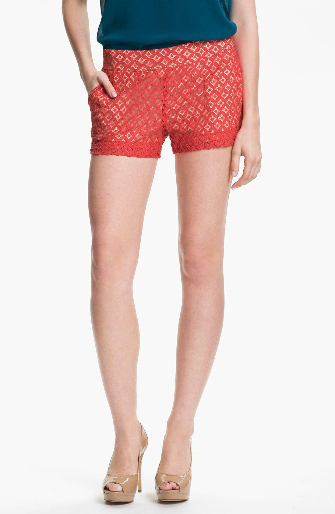 Alternate Image 2  - Kensie 'Geo Lace' Shorts