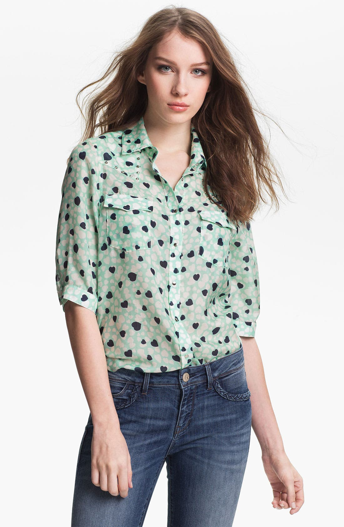 Alternate Image 1 Selected - Two by Vince Camuto 'Candy Heart' Western Blouse