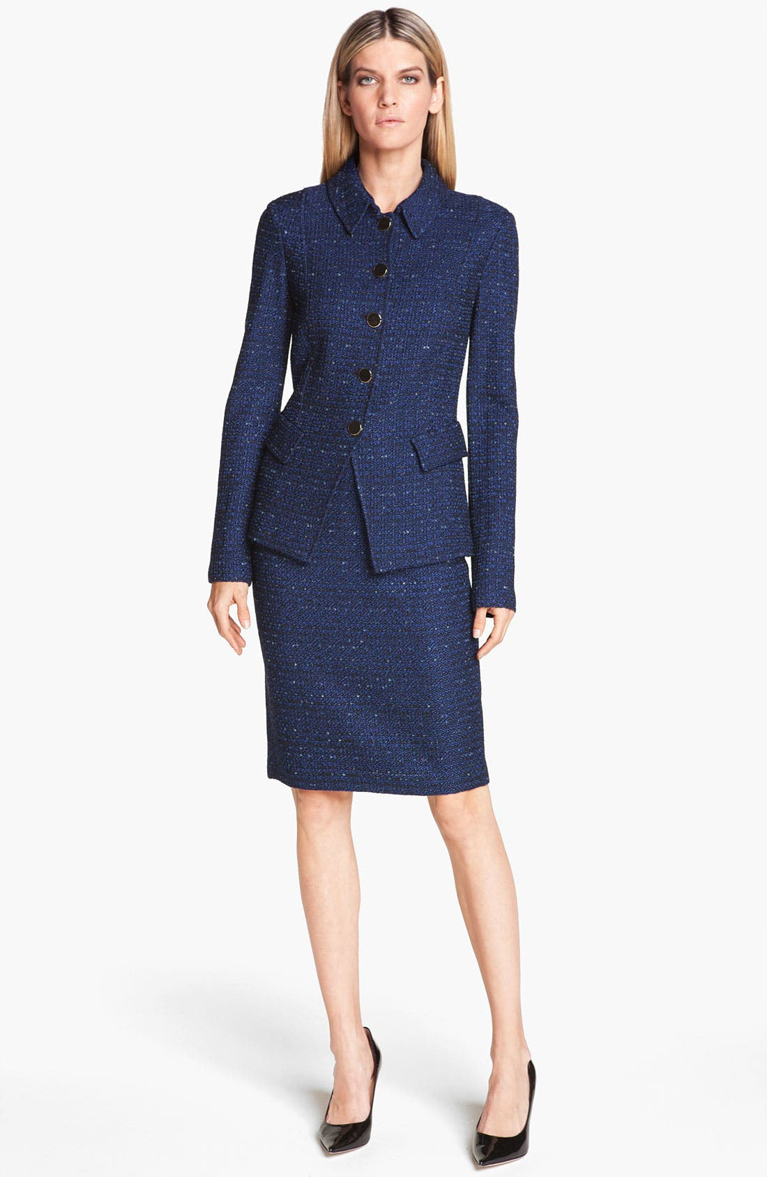 Alternate Image 2  - St. John Collection Tweed Knit Pencil Skirt