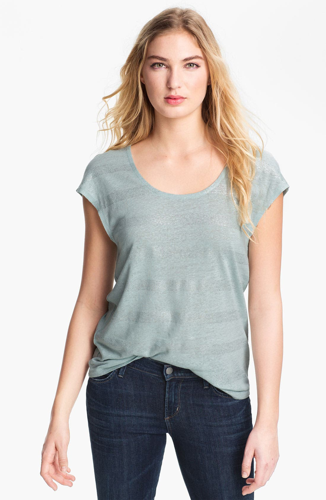 Alternate Image 1 Selected - Trouvé Print Linen Blend Tee