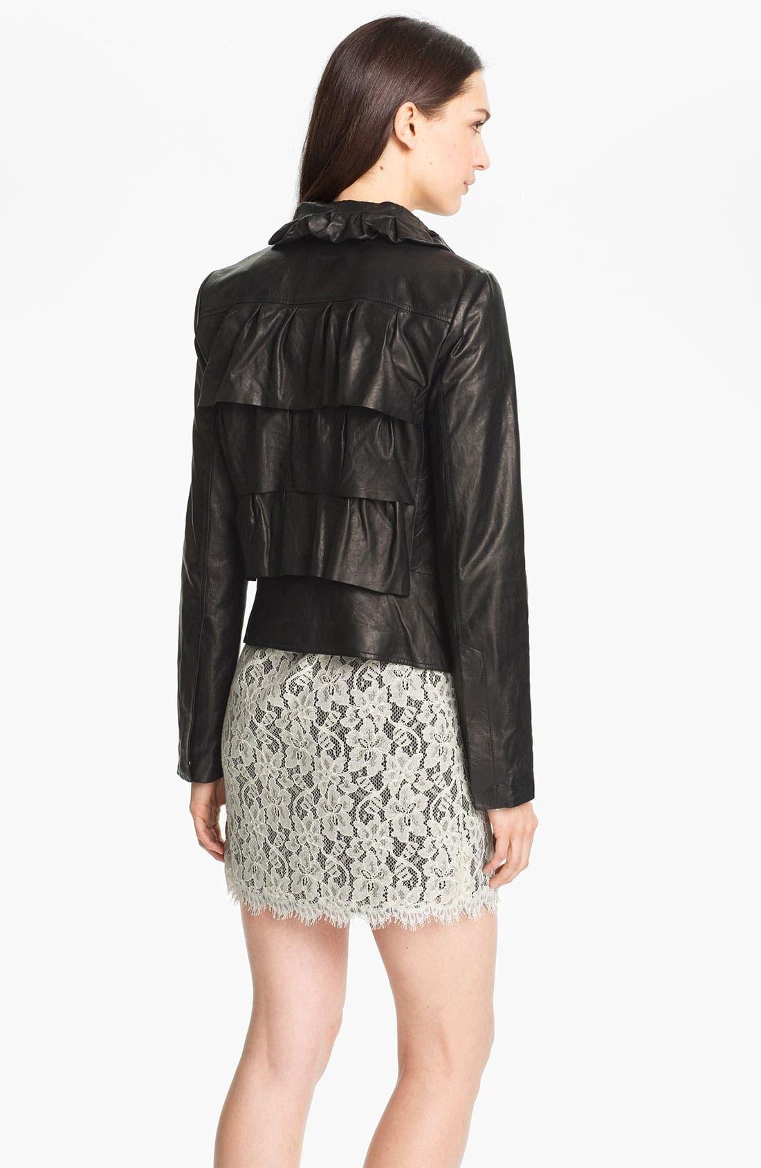 Alternate Image 2  - Diane von Furstenberg 'Cupcake' Leather Bomber Jacket