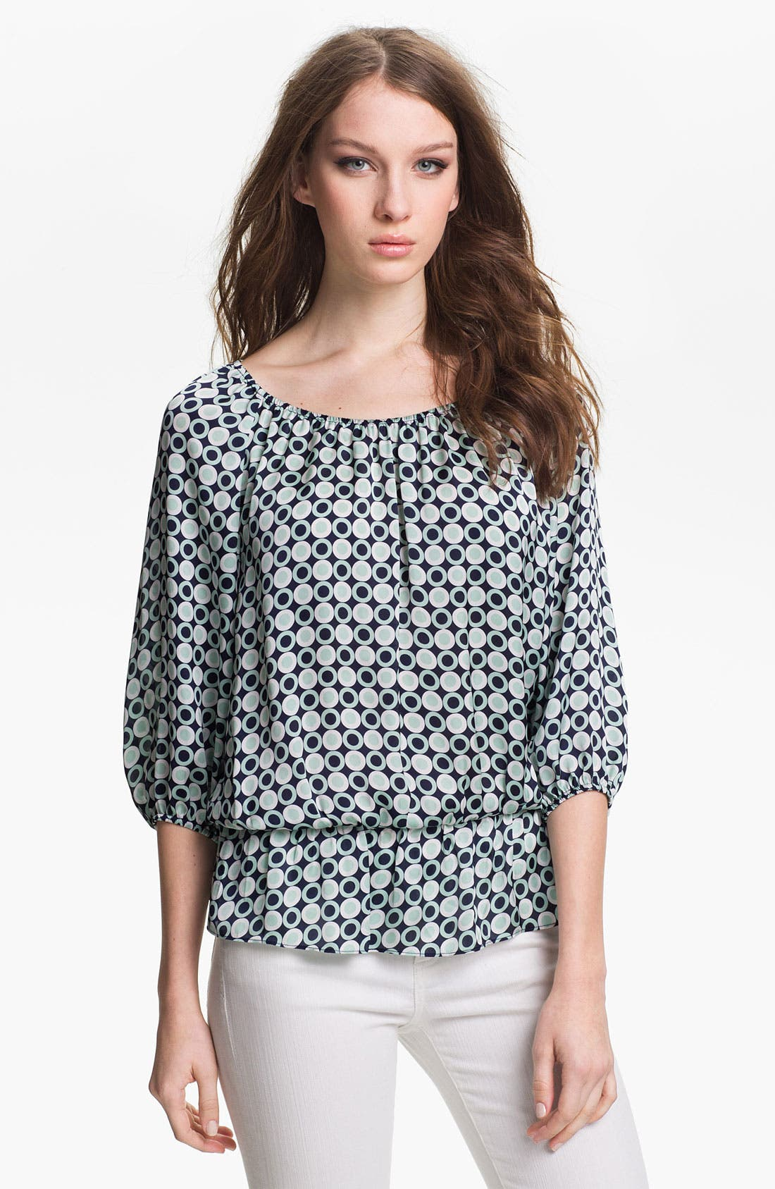 Alternate Image 1 Selected - Vince Camuto Peplum Peasant Blouse