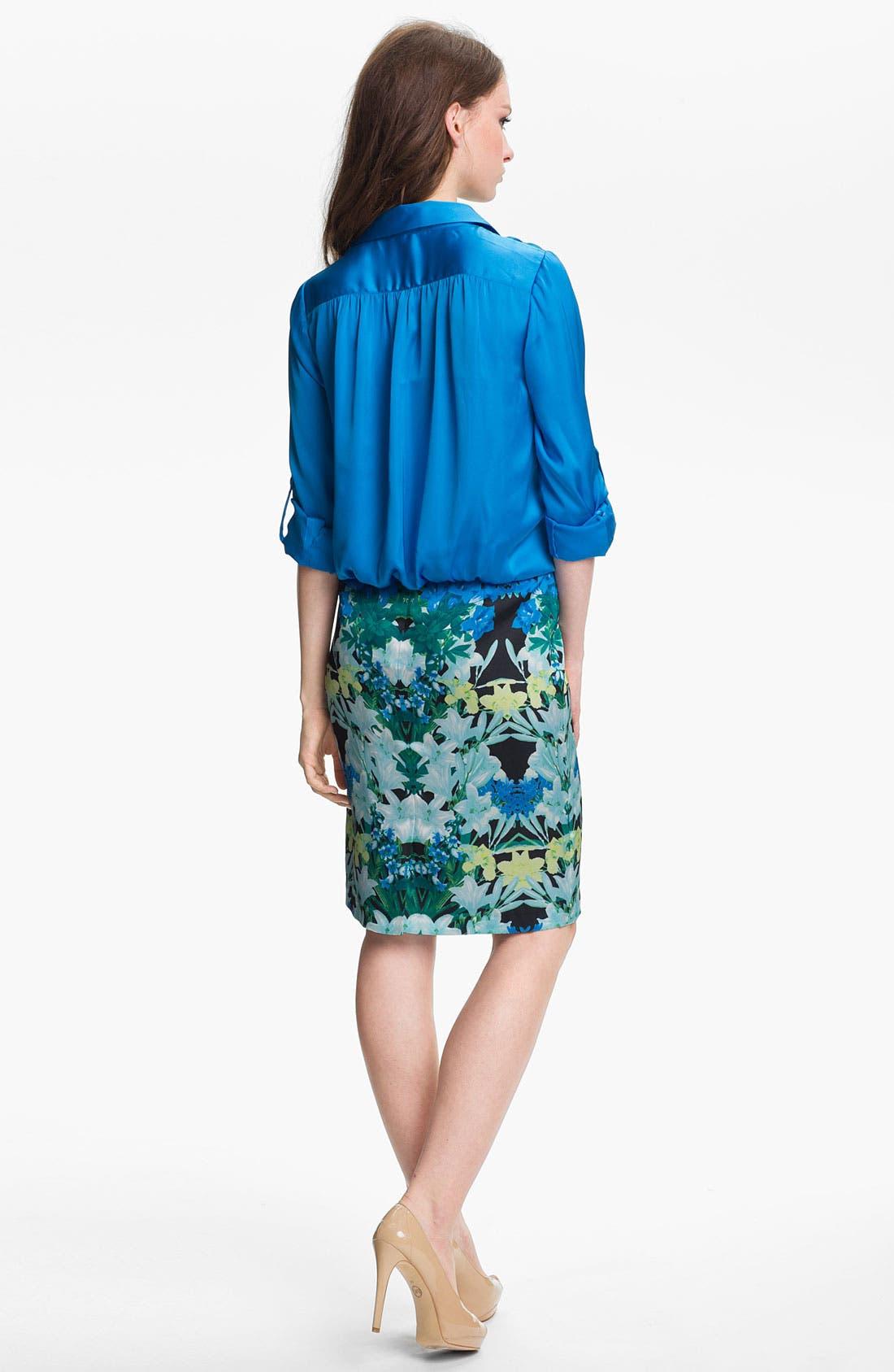 Alternate Image 5  - Vince Camuto 'Spring Garlands' Pencil Skirt