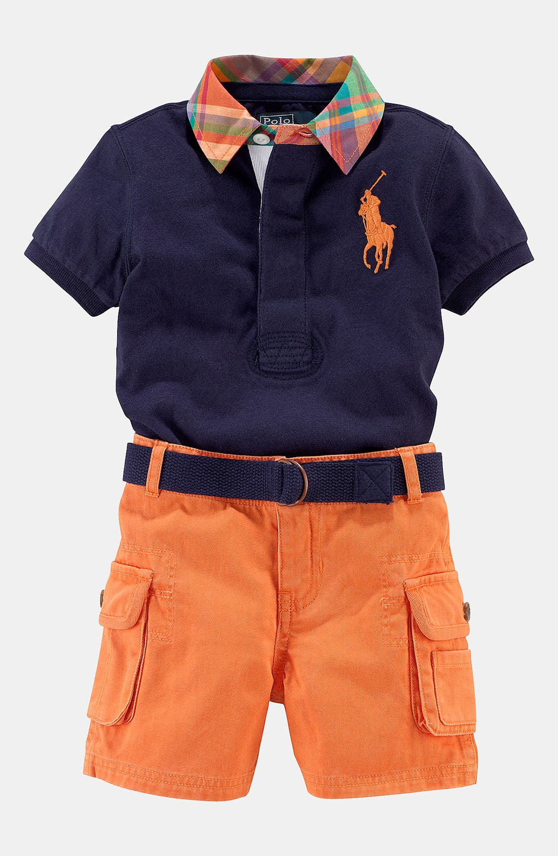Alternate Image 1 Selected - Ralph Lauren Shirt & Shorts (Infant)
