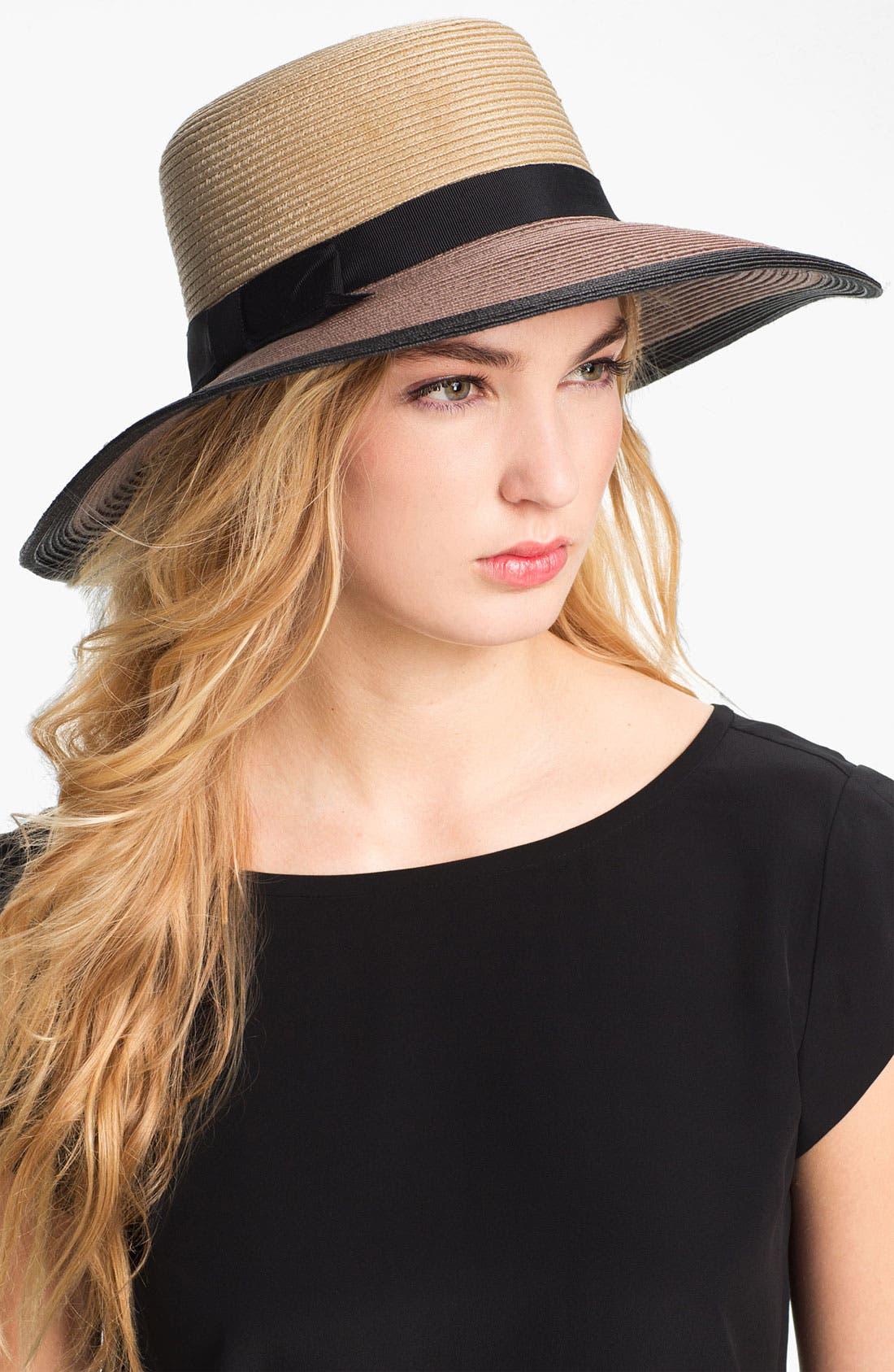 Main Image - kate spade new york colorblock woven sun hat