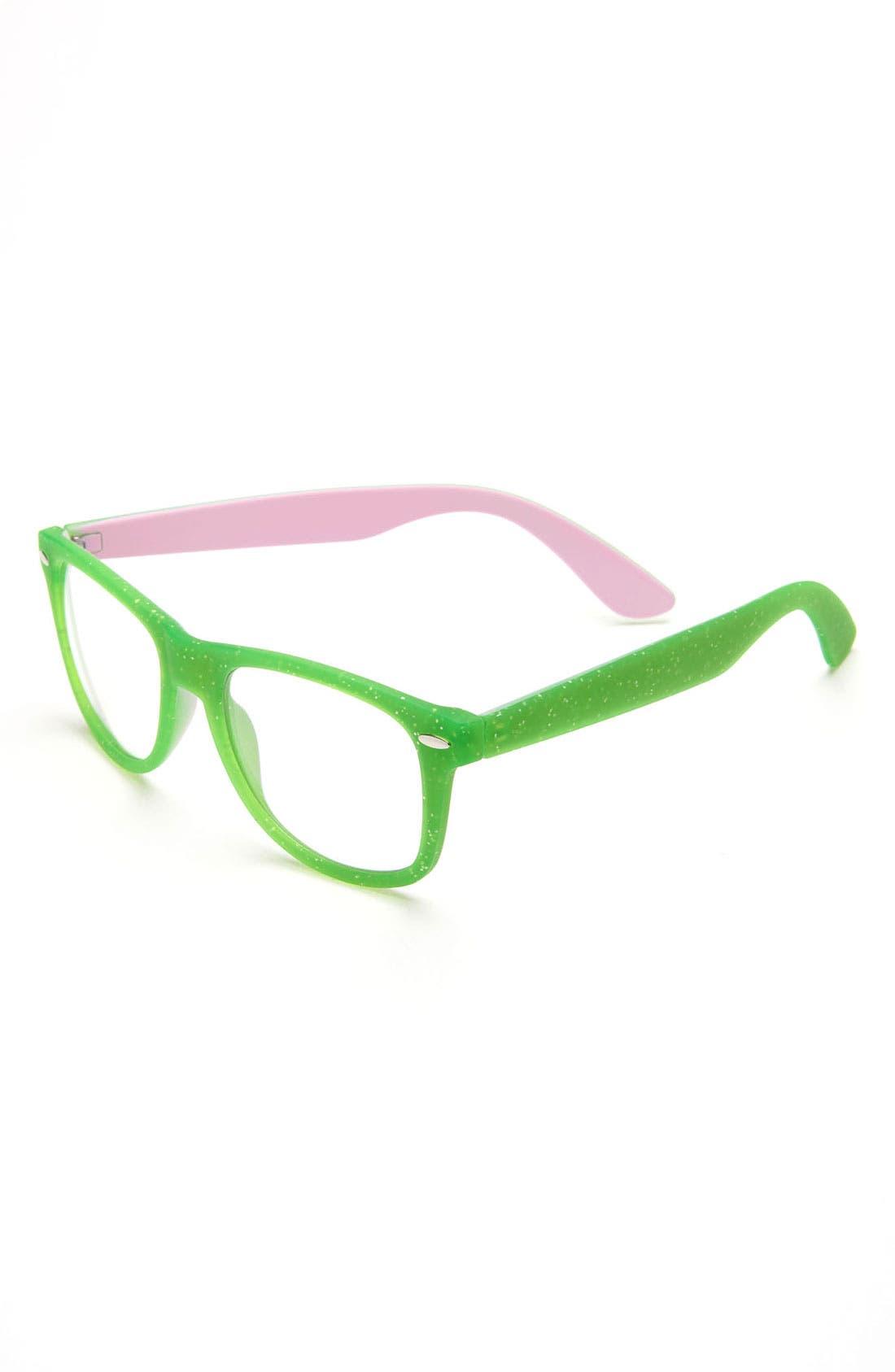 Alternate Image 1 Selected - Fantas Eyes Clear Lens Sunglasses (Girls)