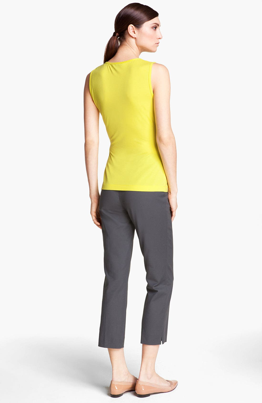 Alternate Image 3  - St. John Yellow Label 'Audrey' Double Weave Stretch Cotton Capri Pants