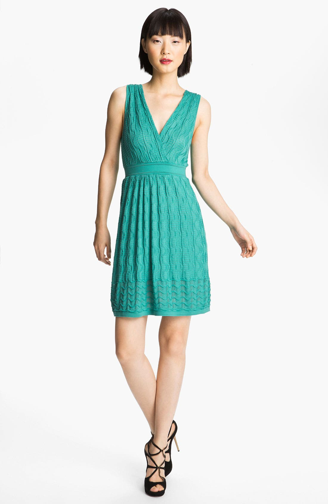 Main Image - M Missoni Knit V-Neck Dress