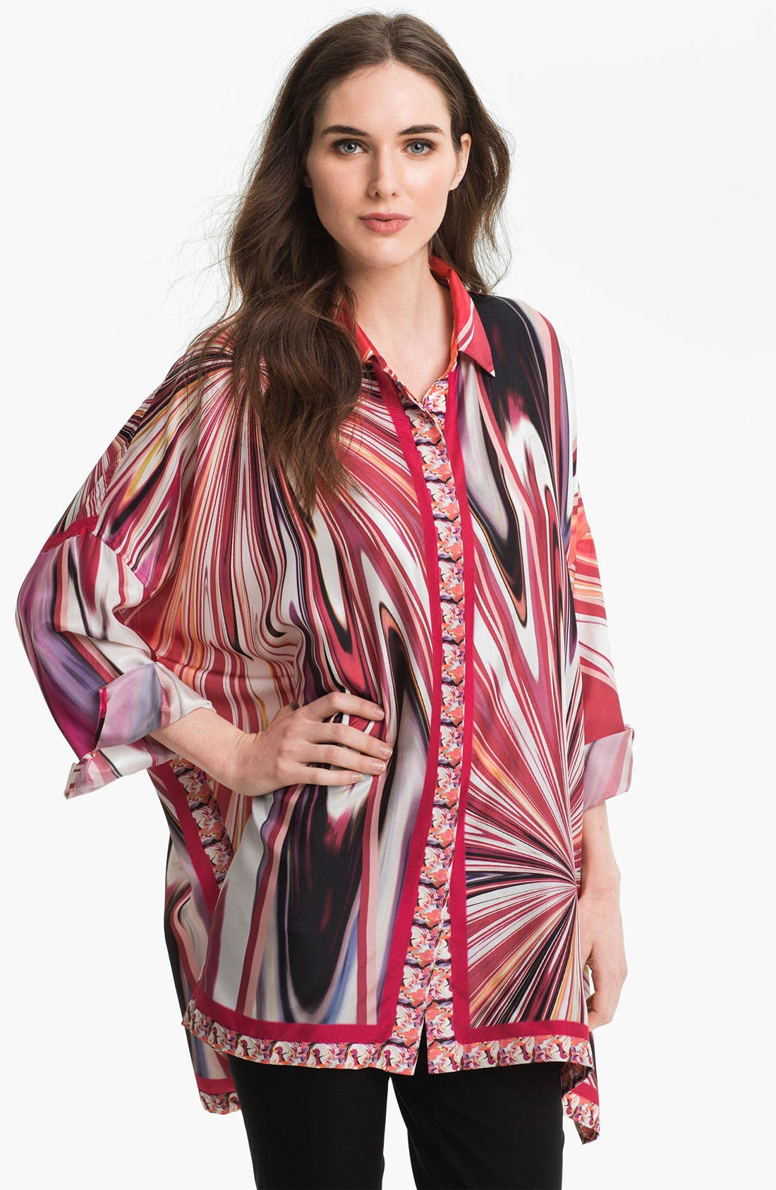 Alternate Image 1 Selected - Lafayette 148 New York 'Nylah' Silk Blouse
