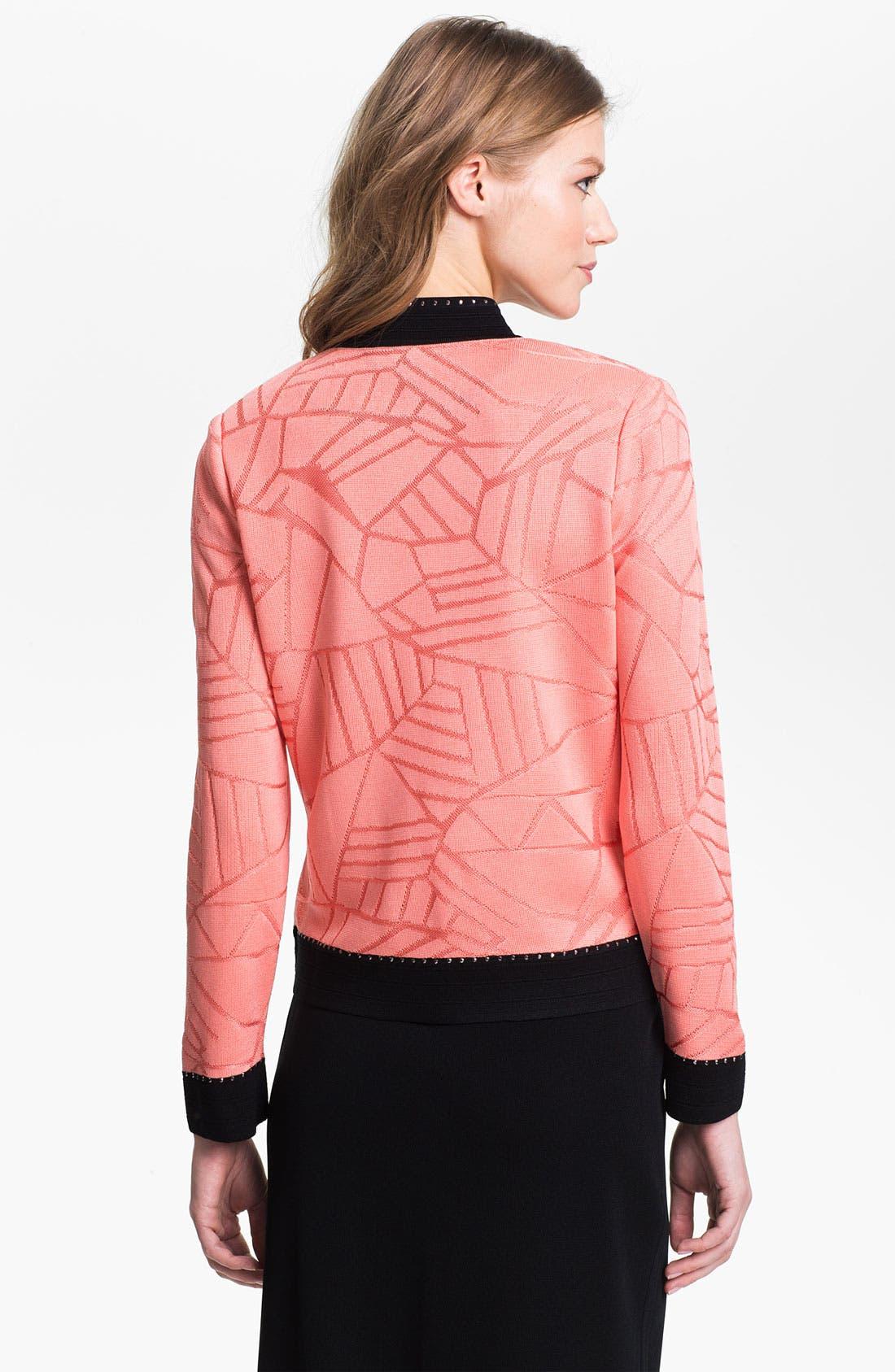 Alternate Image 2  - Ming Wang Embellished Stand Collar Jacket