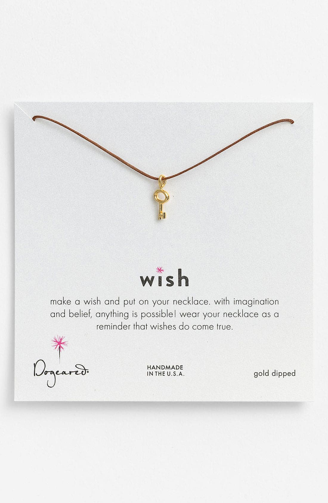 Main Image - Dogeared 'Wish' Key Charm Necklace