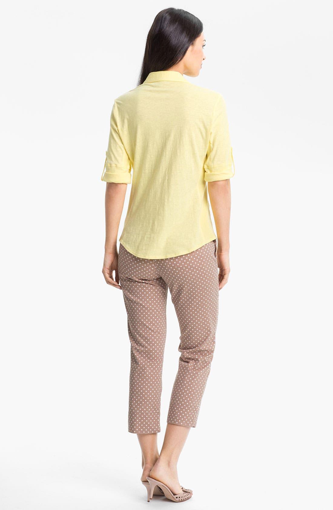 Alternate Image 4  - Jag Jeans 'Maitland' Crop Twill Pants (Petite)