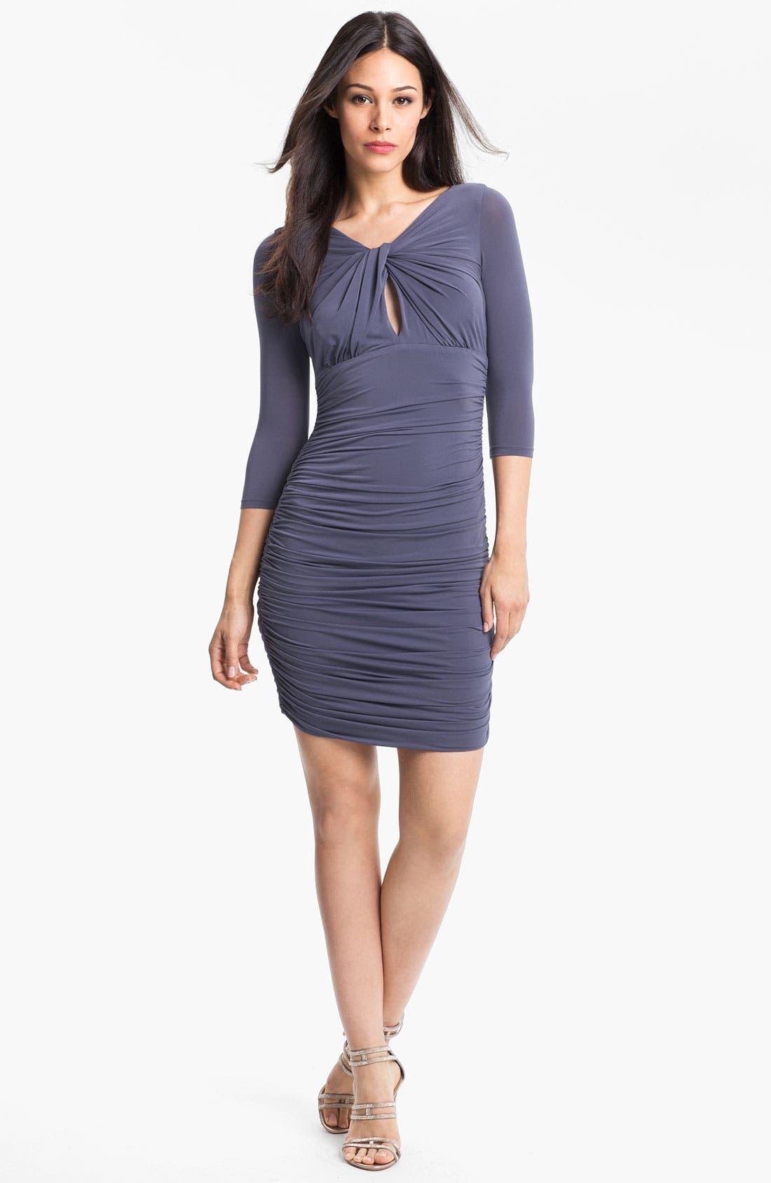 Alternate Image 1 Selected - Halston Heritage Front Twist Jersey Sheath Dress
