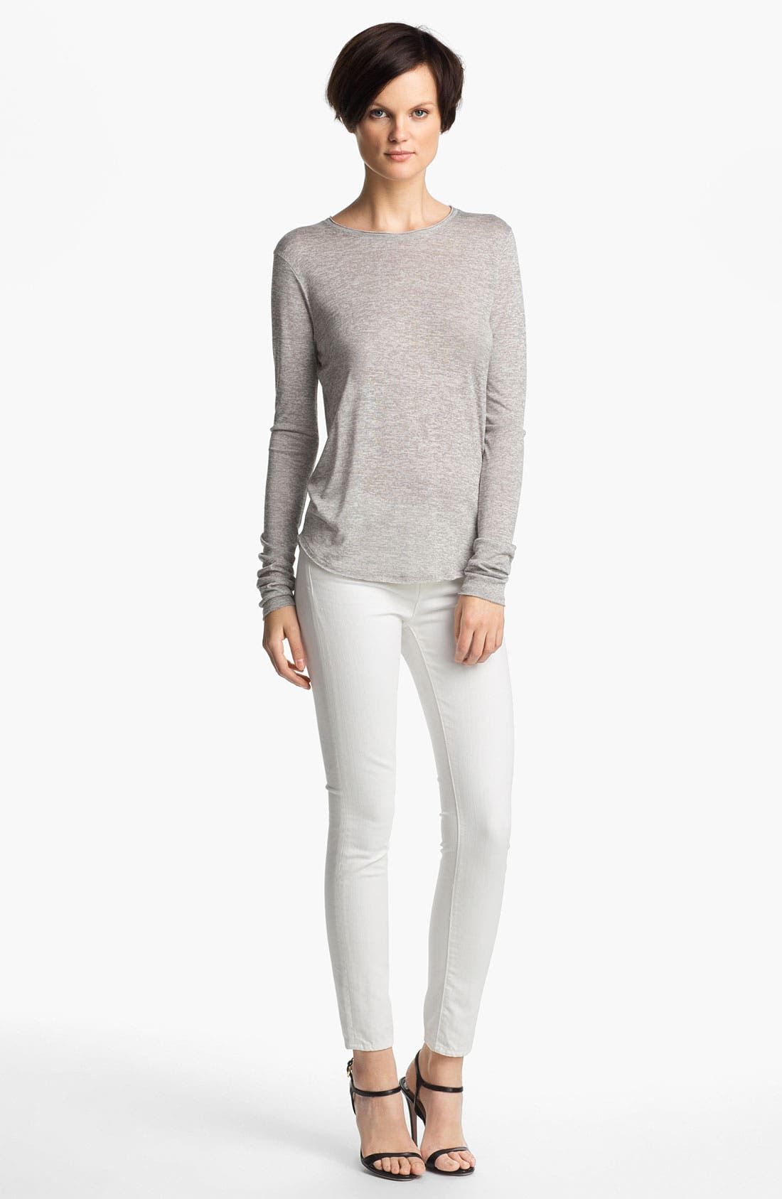 Alternate Image 1 Selected - Vince Long Sleeve Shirttail Tee