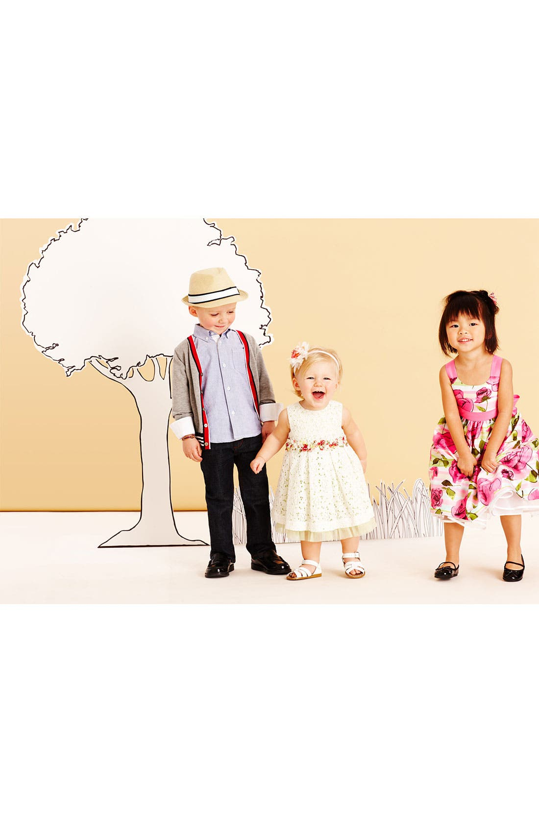 Alternate Image 2  - Pippa & Julie Lace Dress & Bloomers (Baby Girls)