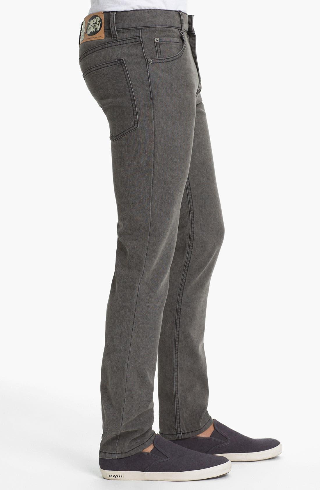 Alternate Image 3  - Cheap Monday Tight Skinny Leg Jeans (45-Minute Stonewash)