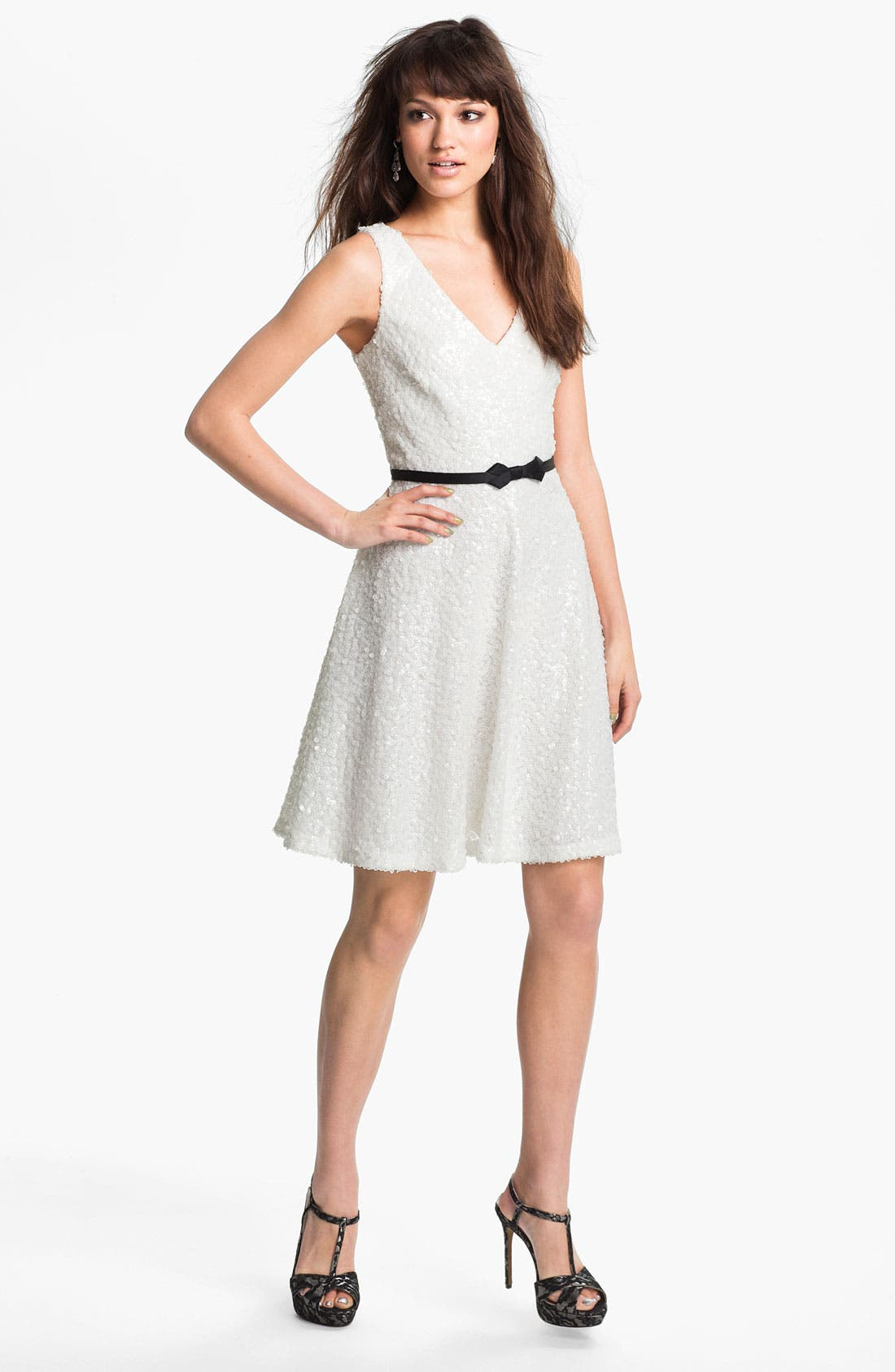 Alternate Image 1 Selected - Laundry by Shelli Segal Sequin Fit & Flare Dress