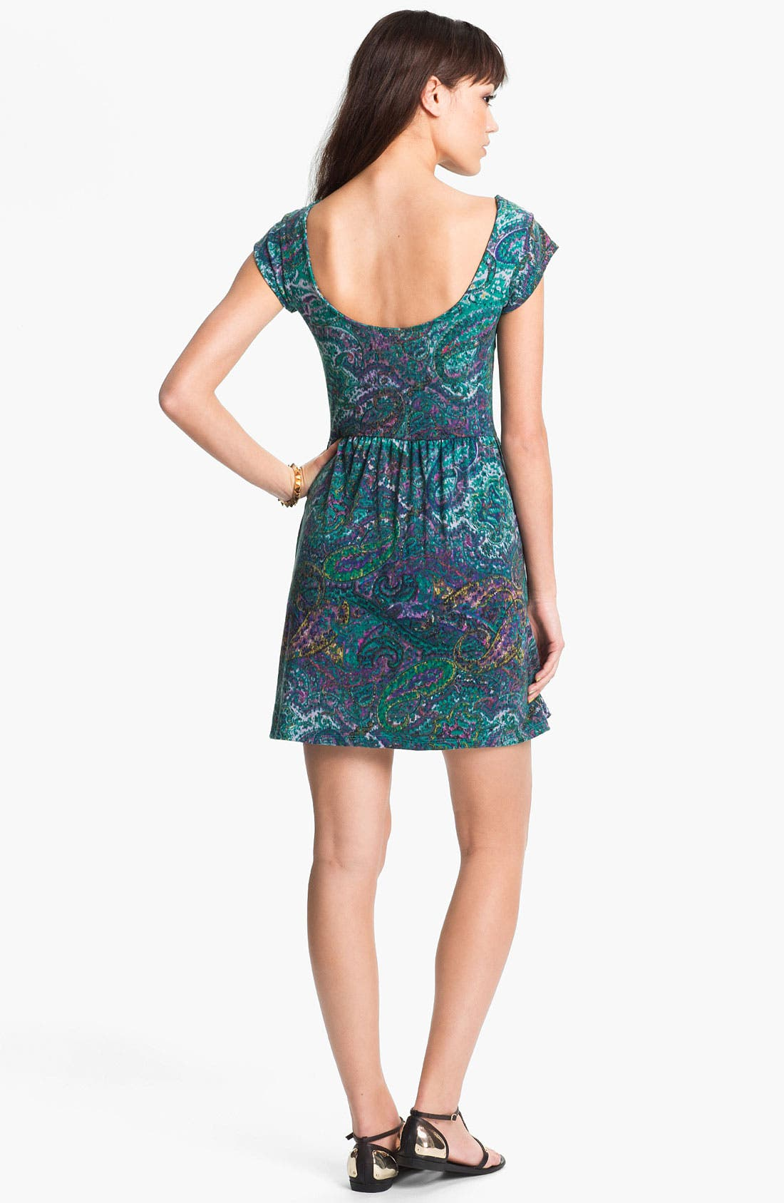 Alternate Image 2  - Mimi Chica Paisley Print Dress (Juniors)