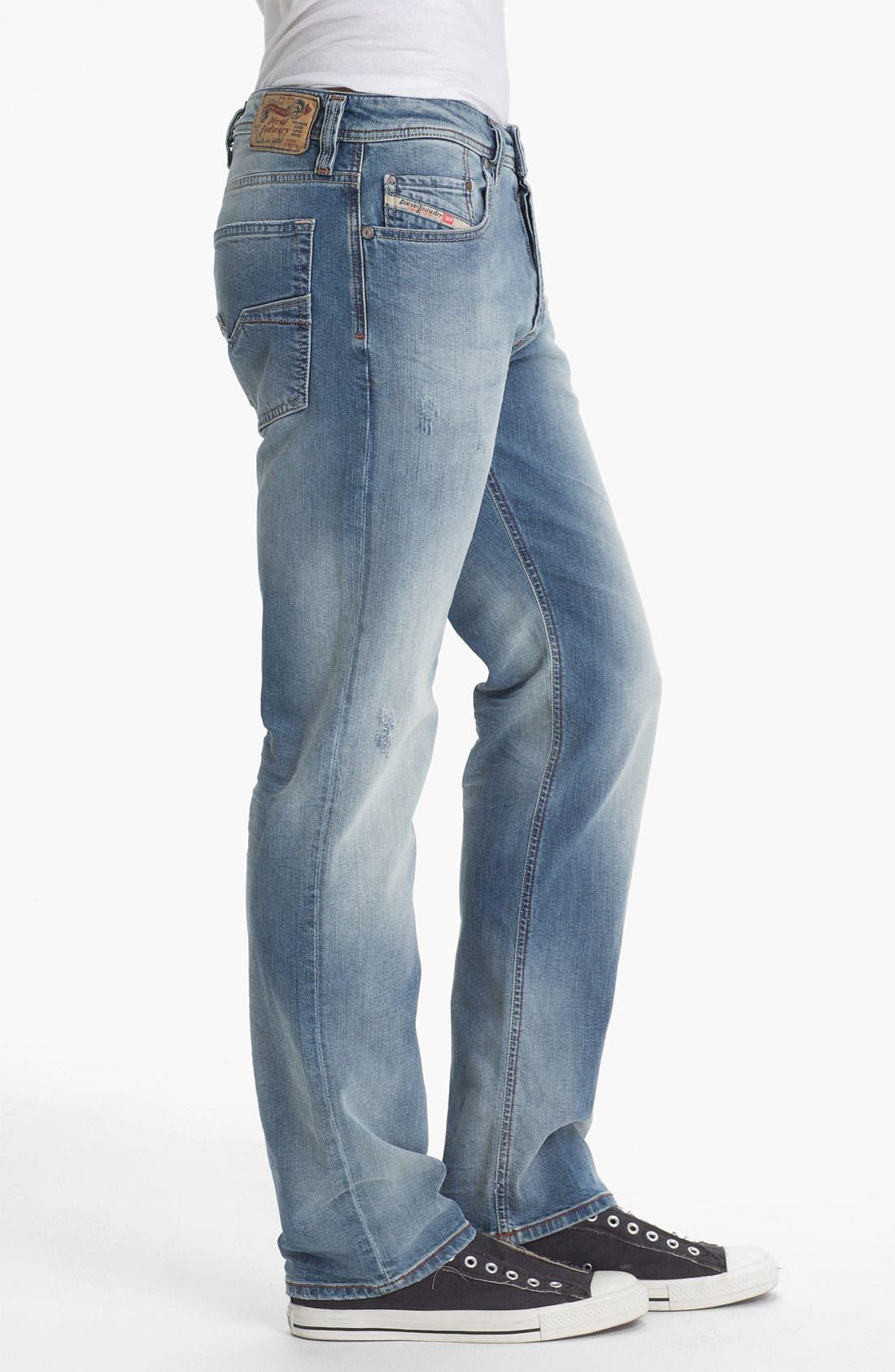 Alternate Image 3  - DIESEL® 'Larkee' Relaxed Straight Leg Jeans (0811E)