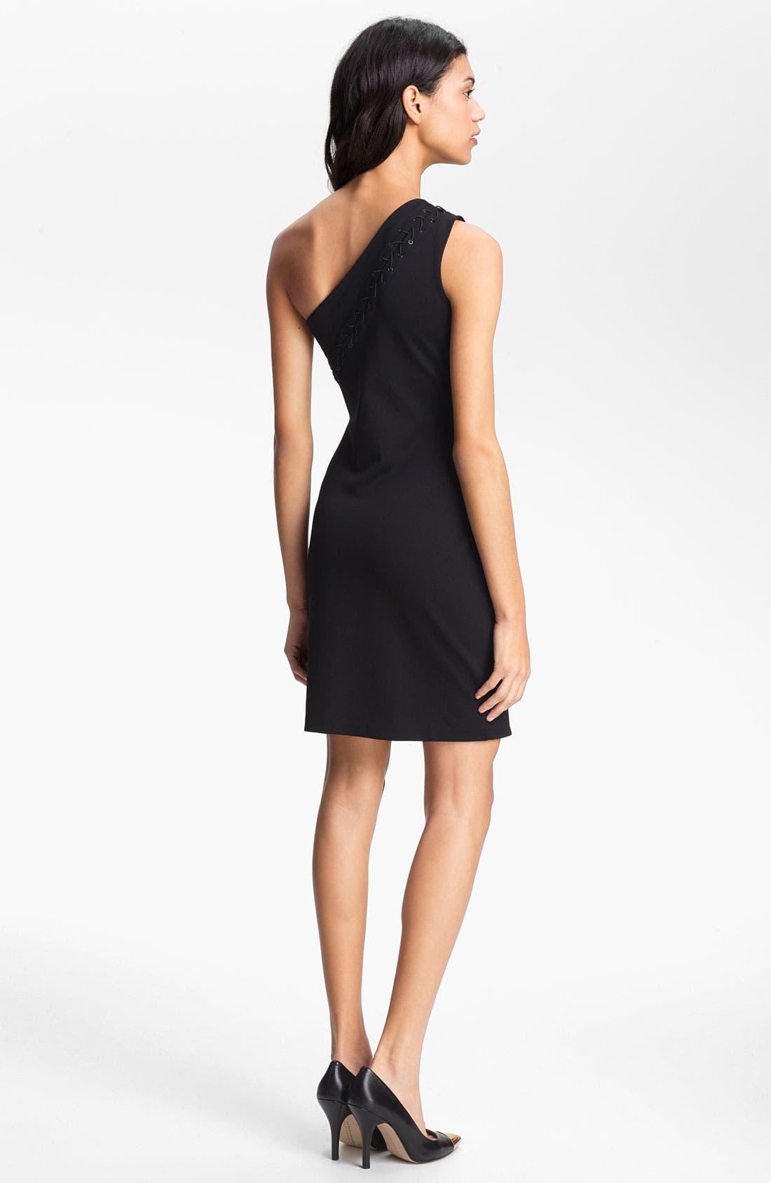Alternate Image 2  - Halston Heritage One Shoulder Sheath Dress