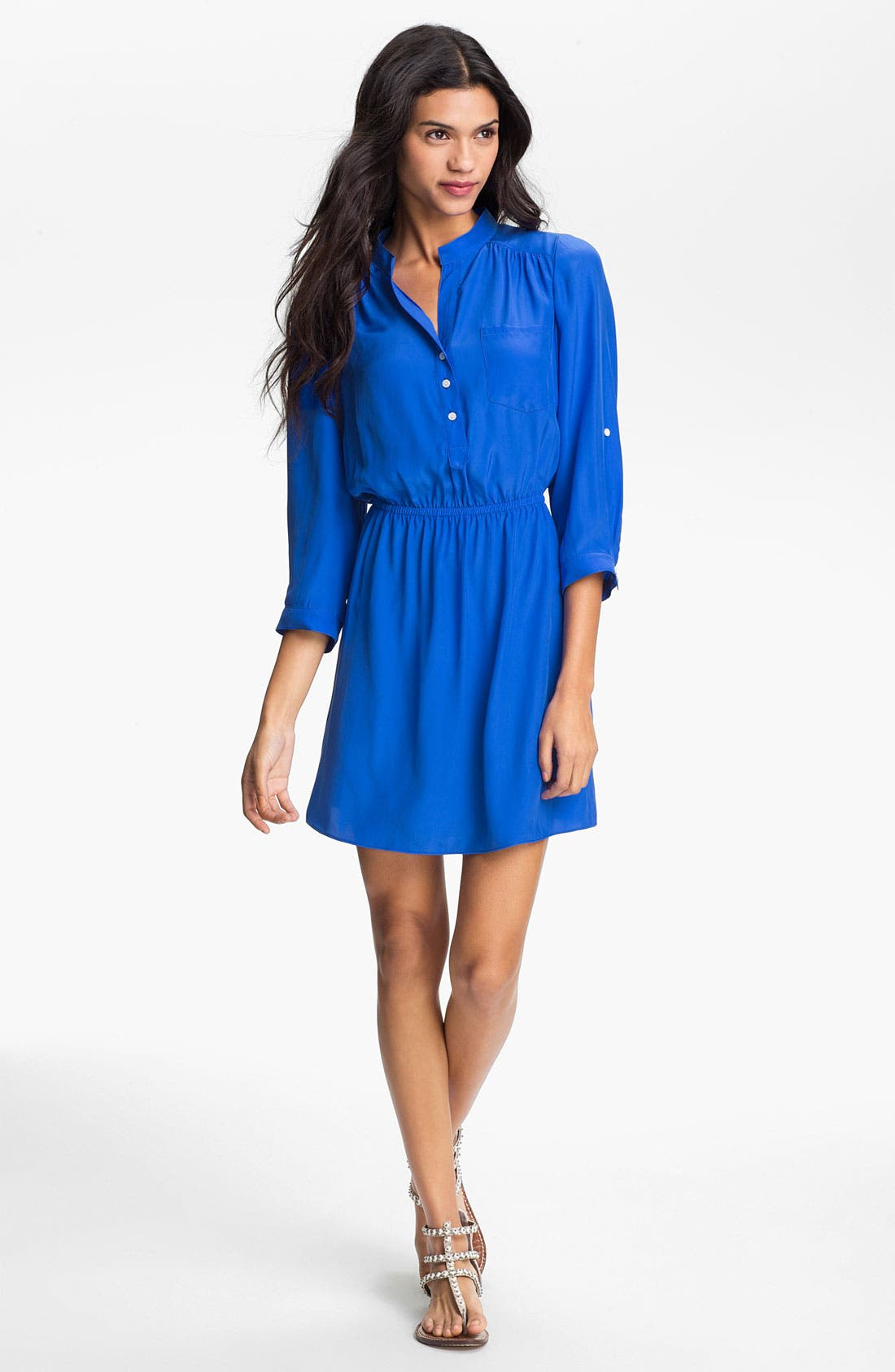 Alternate Image 1 Selected - ALICE & TRIXIE 'Dylan' Silk Charmeuse Shirtdress