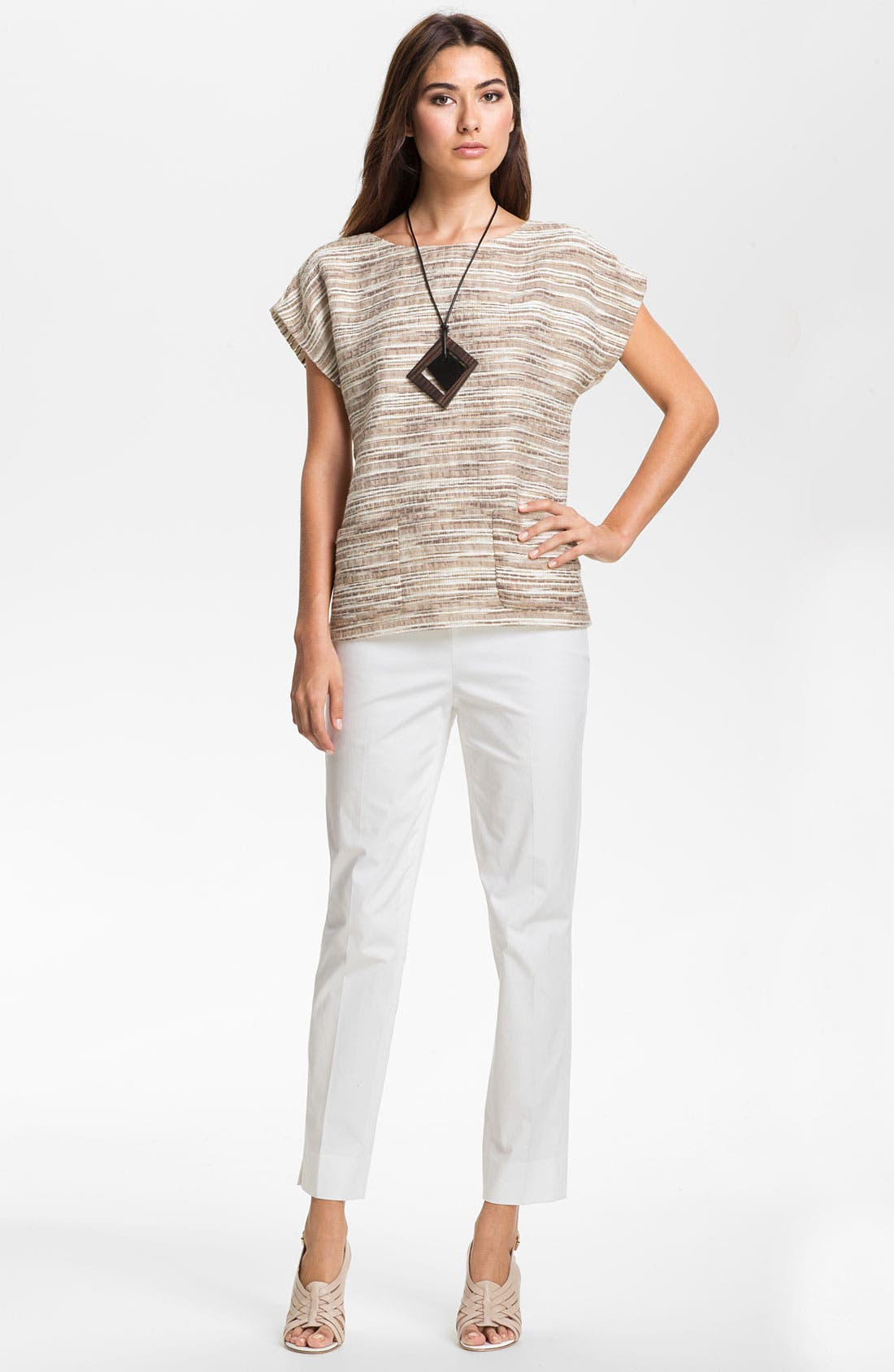 Alternate Image 4  - Lafayette 148 New York 'Eartha - Cordial Reed Cloth' Top