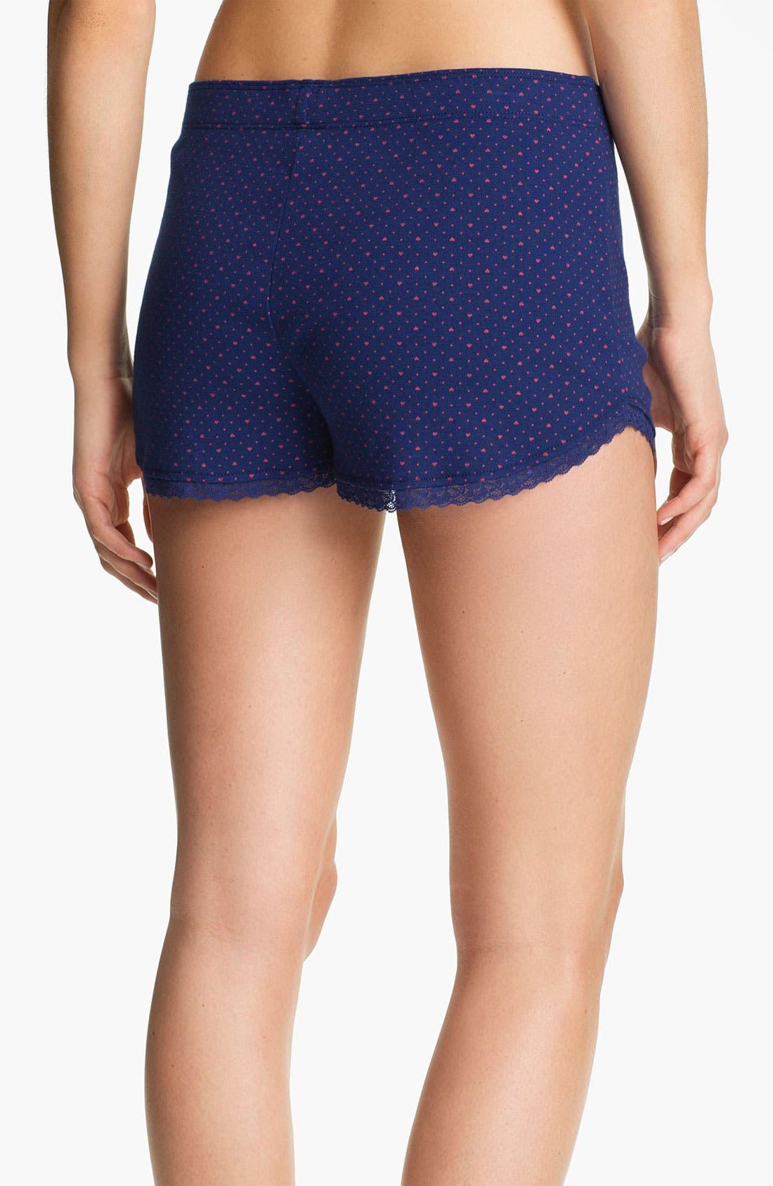 Alternate Image 2  - Jane & Bleecker New York Rib Knit Boxer Shorts