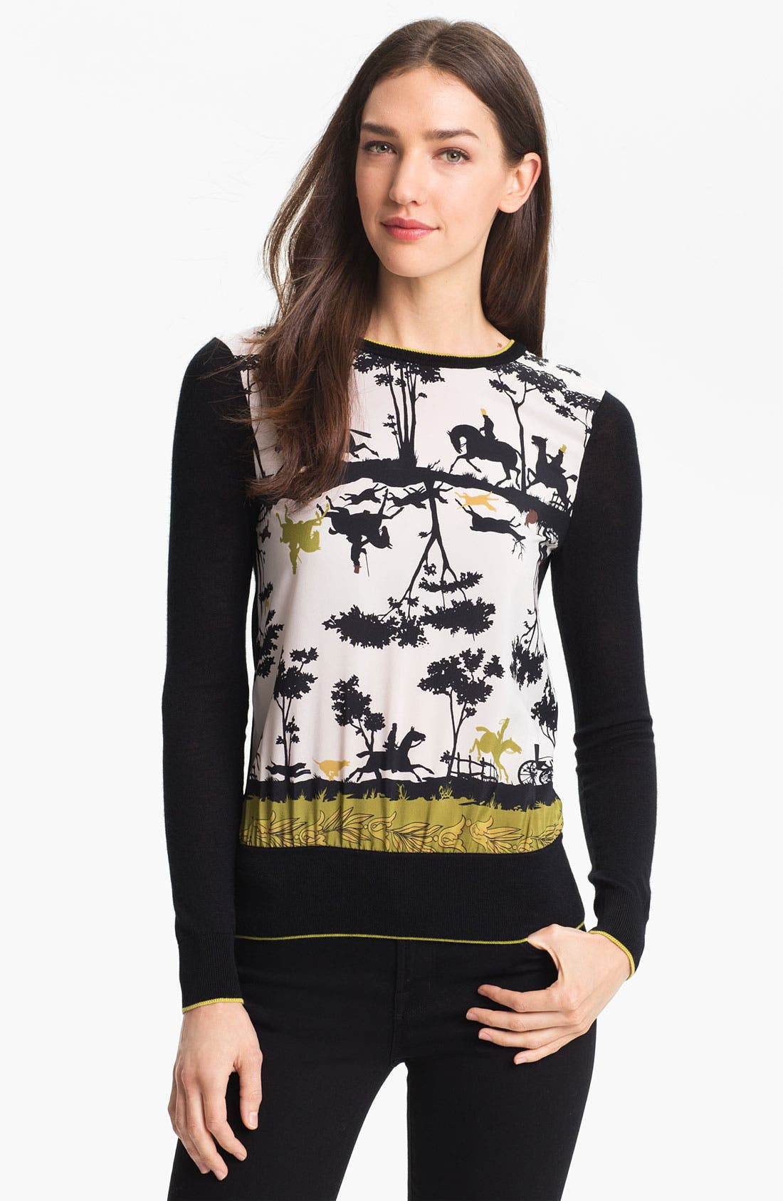 Alternate Image 1 Selected - Ted Baker London 'Cameo' Print Sweater