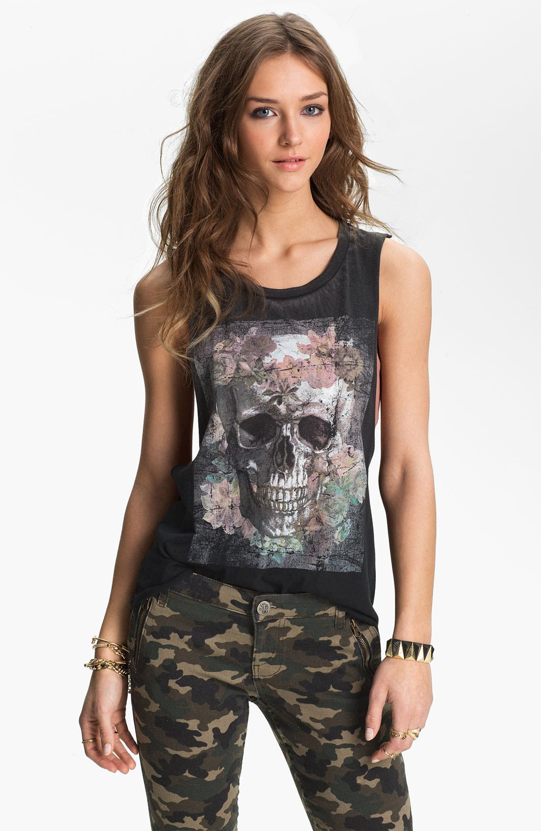 Main Image - Project Social T 'Skull' Graphic Tunic Tank (Juniors)