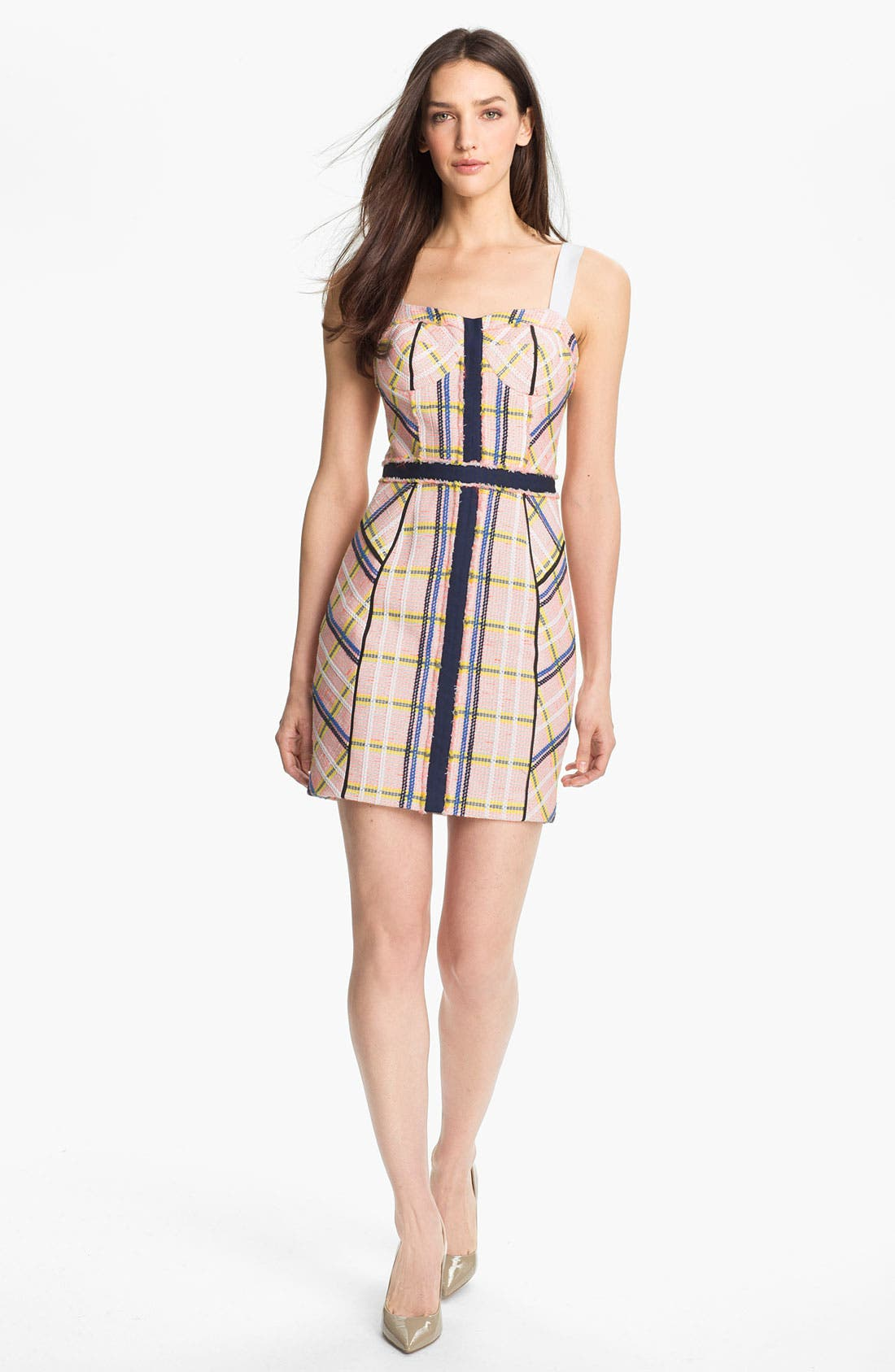 Main Image - Rebecca Minkoff 'Clara' Textured Tweed Bustier Dress