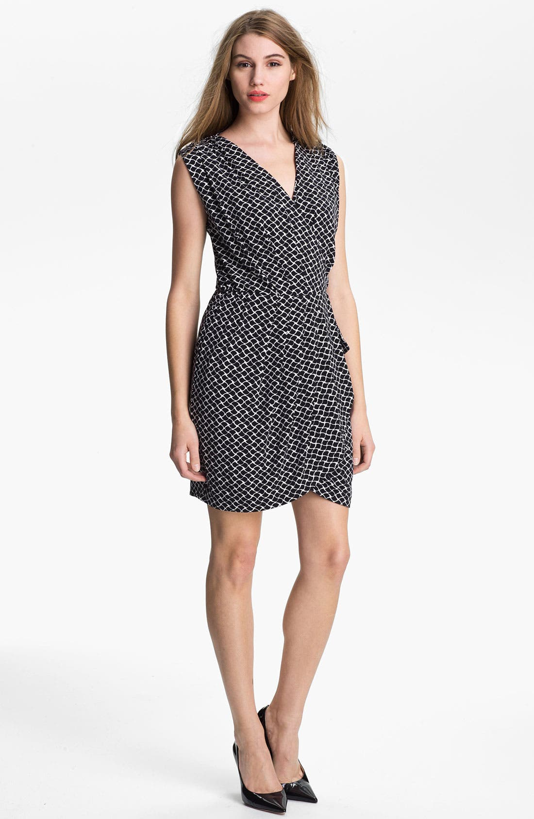 Alternate Image 1 Selected - Vince Camuto 'Swirling Teardrop' Faux Wrap Dress