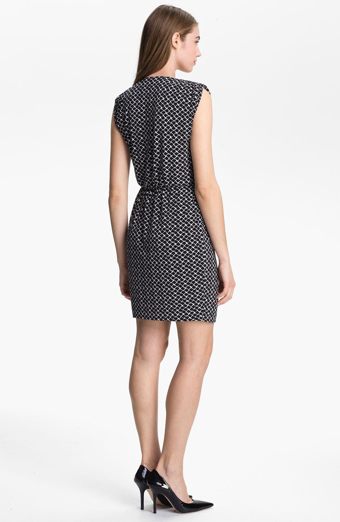 Alternate Image 2  - Vince Camuto 'Swirling Teardrop' Faux Wrap Dress