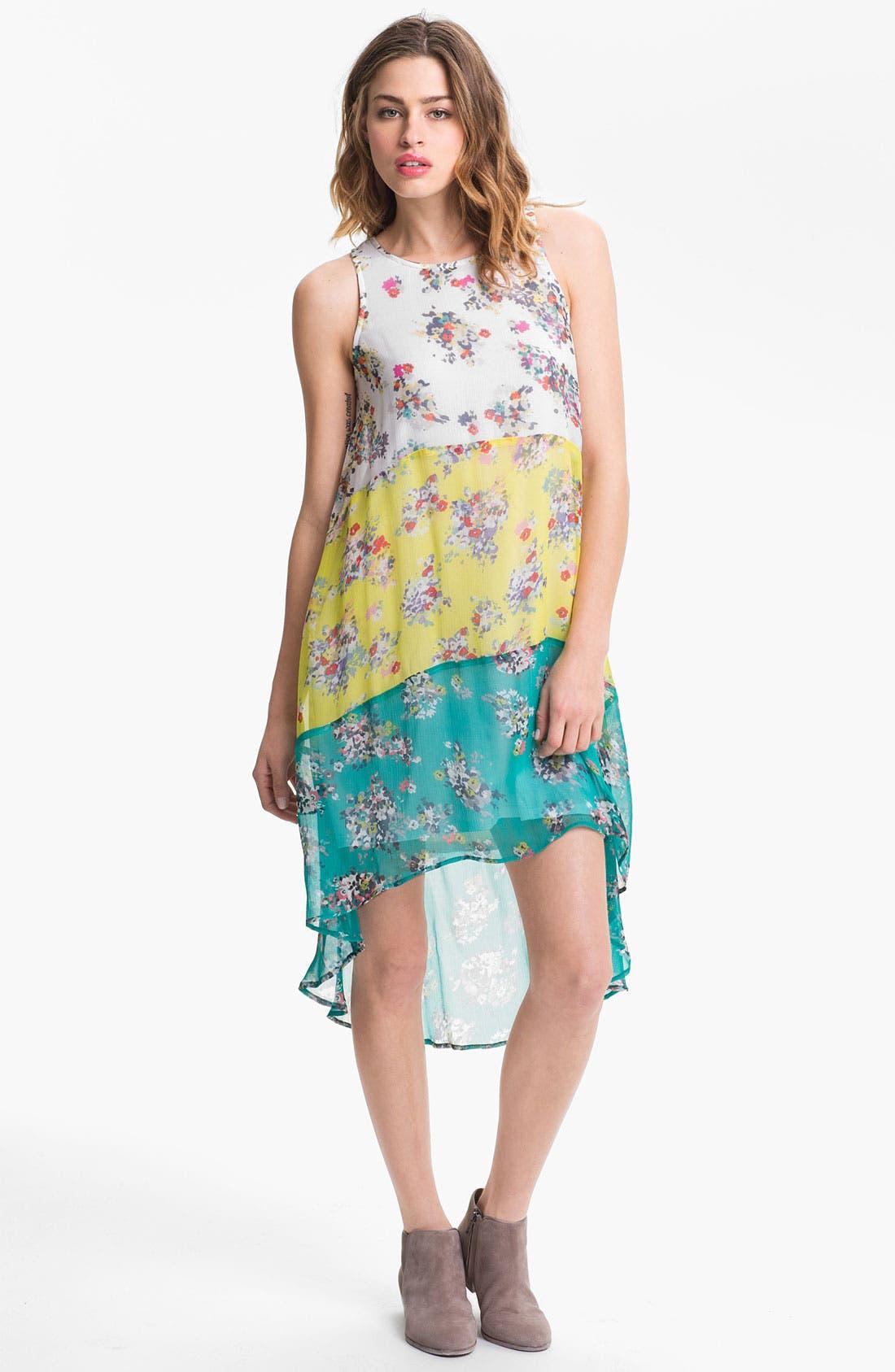 Alternate Image 1 Selected - Ella Moss 'Citrus' Mixed Print Tiered Chiffon Dress