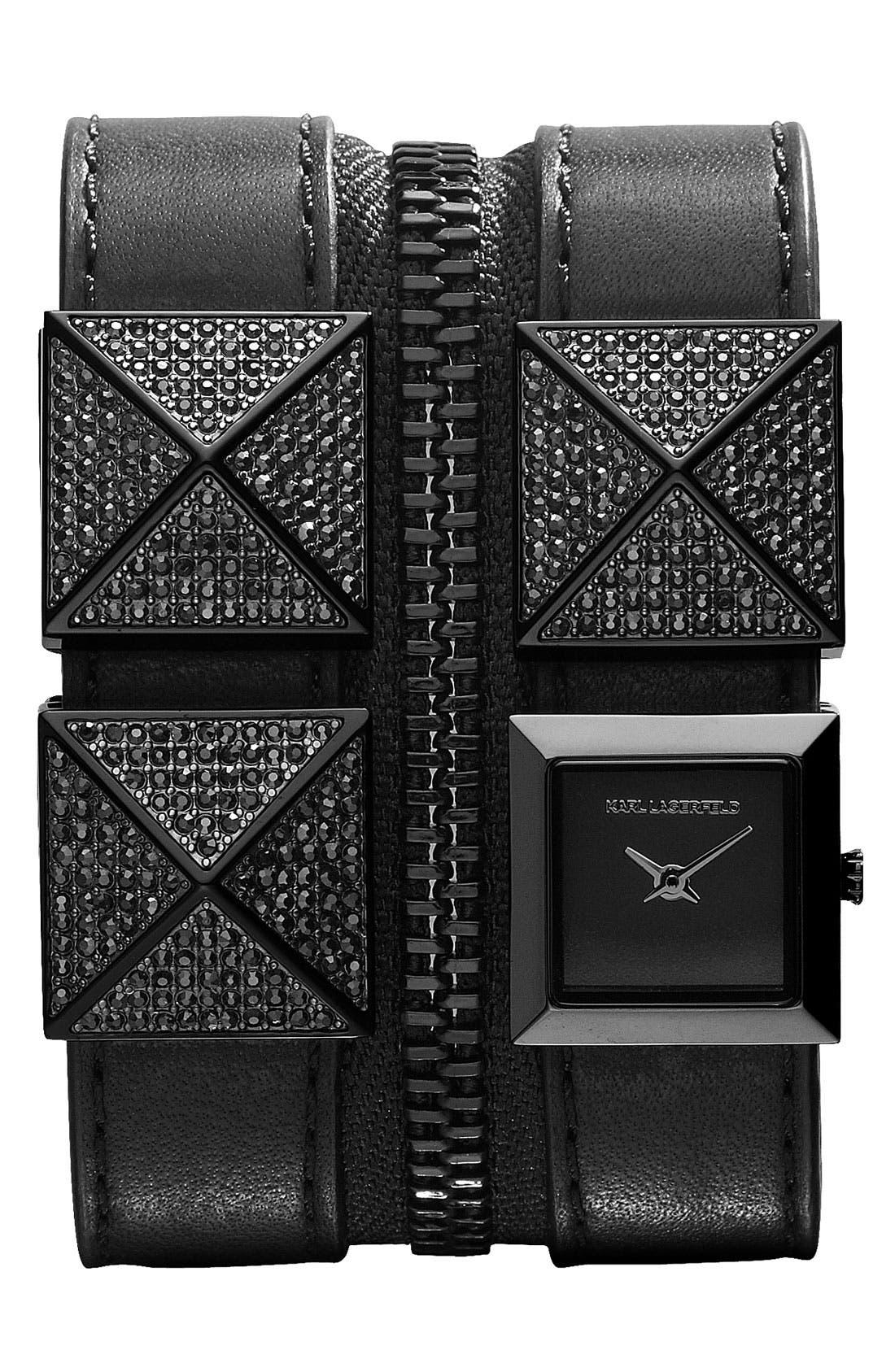 Main Image - KARL LAGERFELD Double Strap Cuff Watch