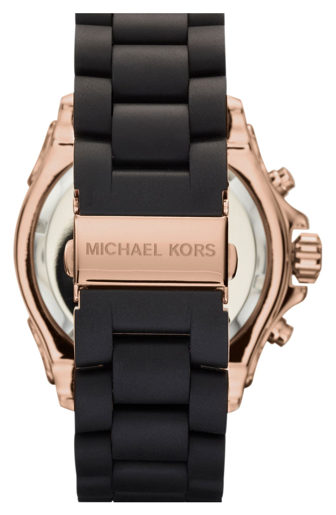 Alternate Image 2  - Michael Kors 'Everest' Chronograph Silicone Strap Watch