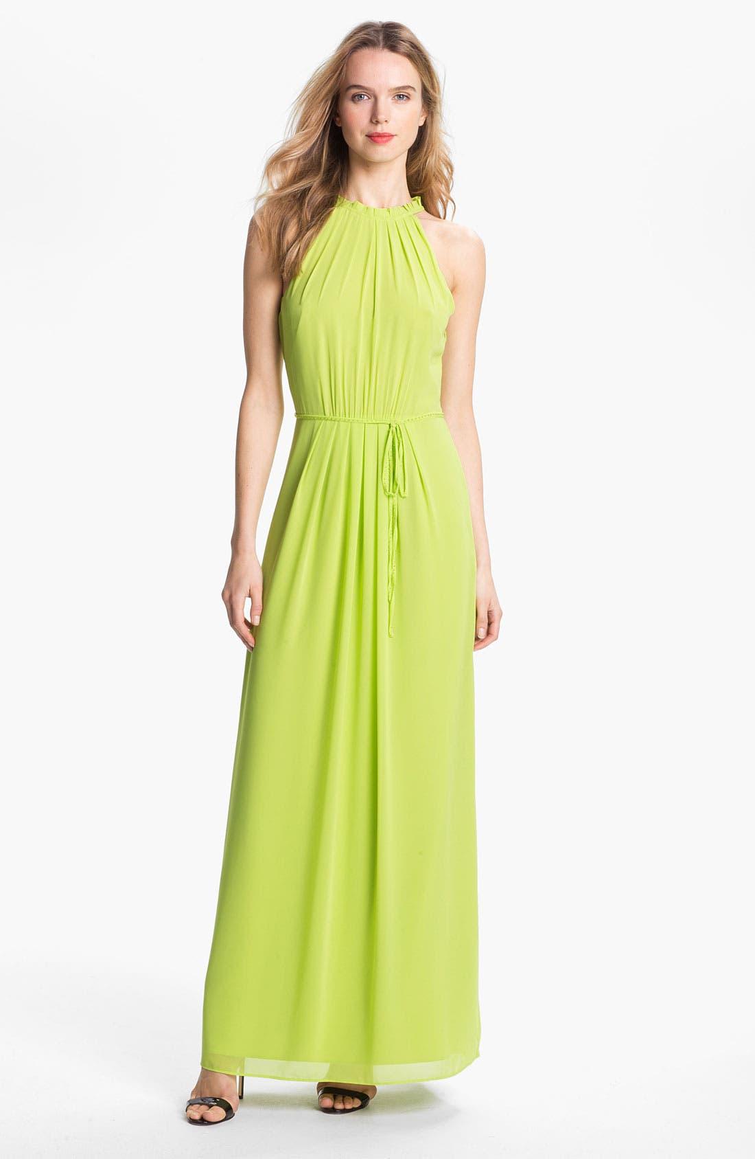 Alternate Image 1 Selected - Ted Baker London Halter Maxi Dress (Online Only)