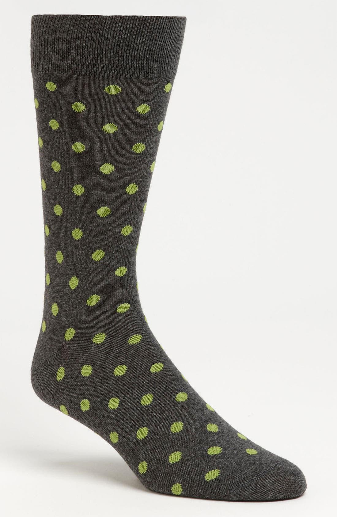 Main Image - Lorenzo Uomo Dot Socks