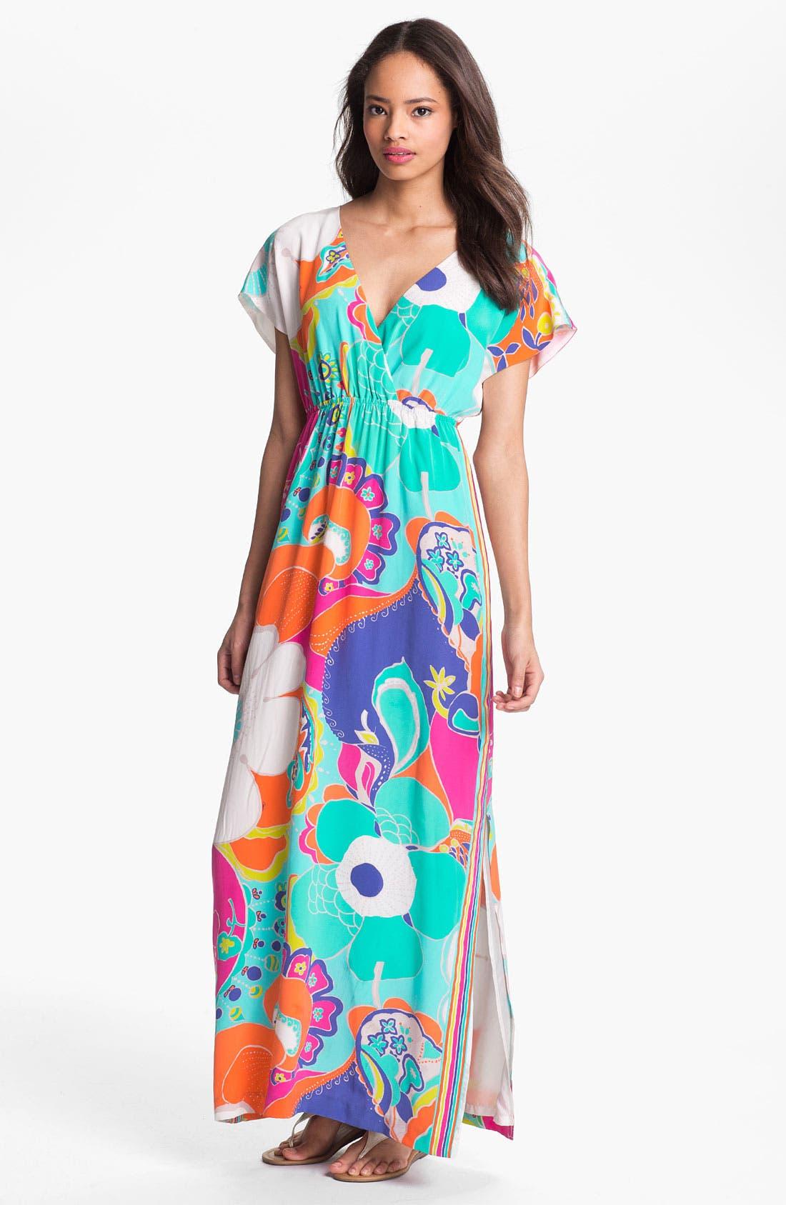 Alternate Image 1  - Trina Turk 'Amrita' Silk Maxi Dress