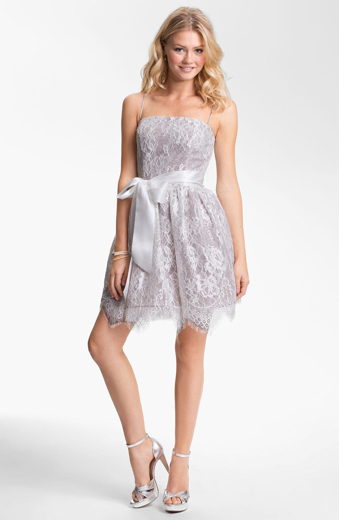 Alternate Image 1 Selected - Jessica McClintock Sequin Lace Fit & Flare Dress
