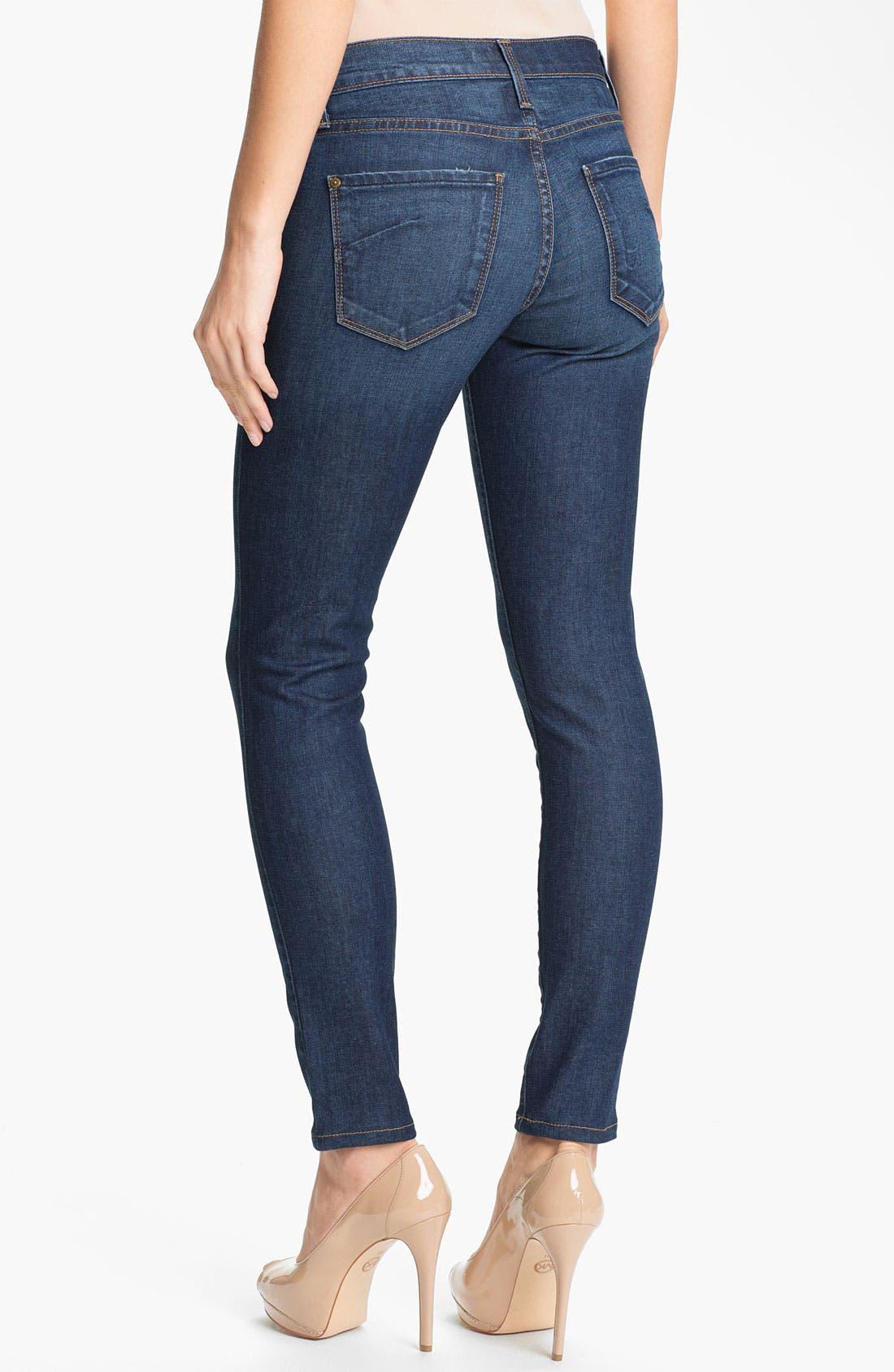 Alternate Image 2  - James Jeans Skinny Stretch Jeans (Havana) (Petite) (Online Only)