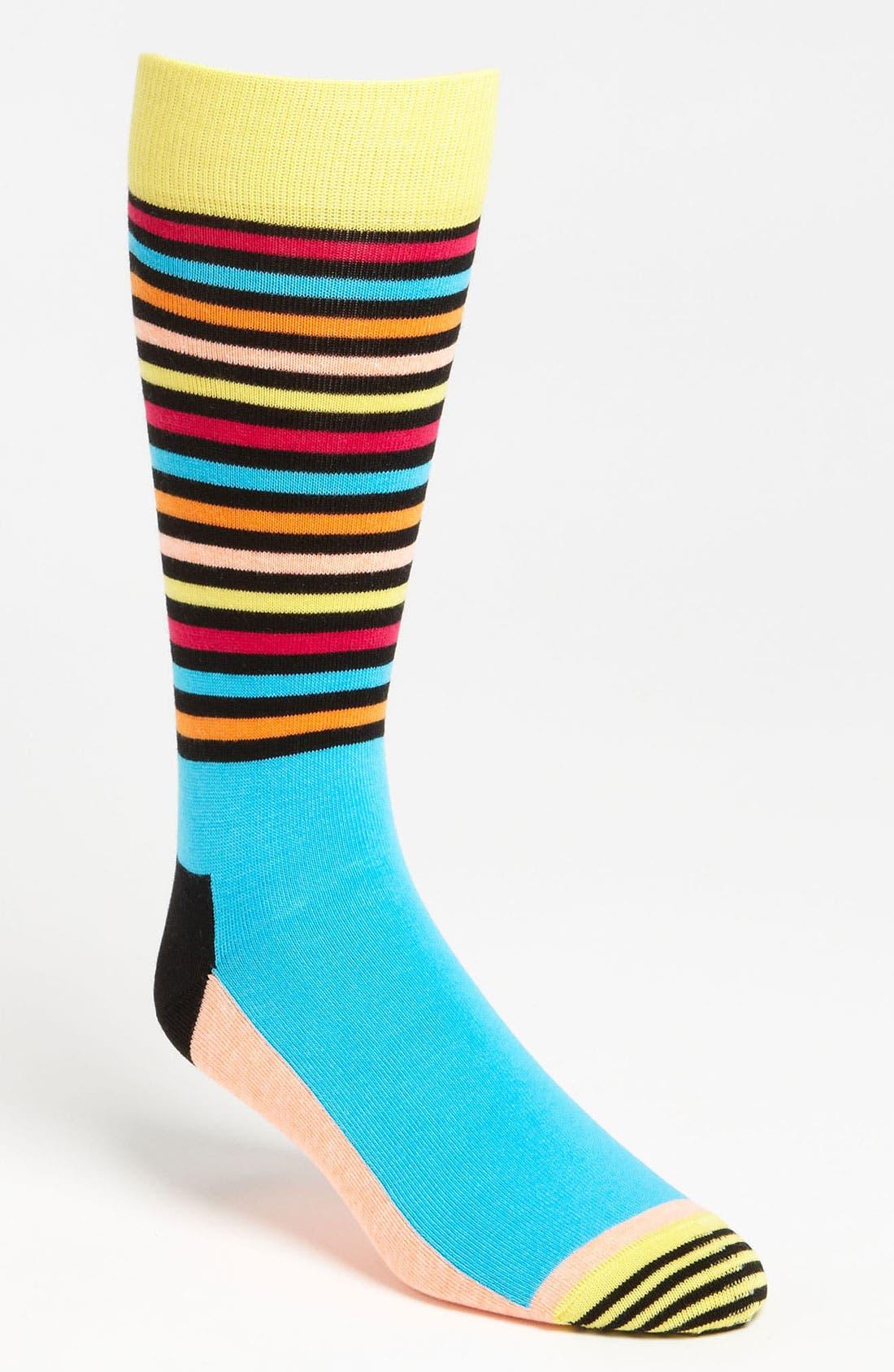 Main Image - Happy Socks Patterned Cotton Blend Socks