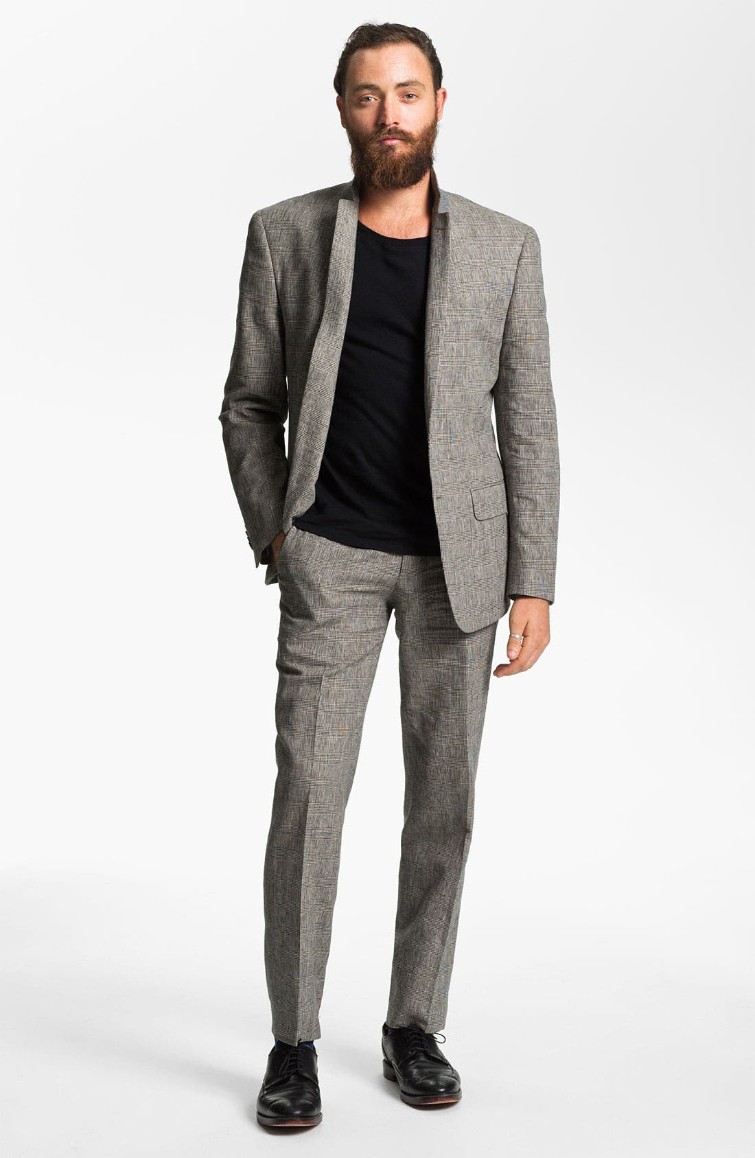 Alternate Image 4  - John Varvatos Star USA Glen Plaid Trousers
