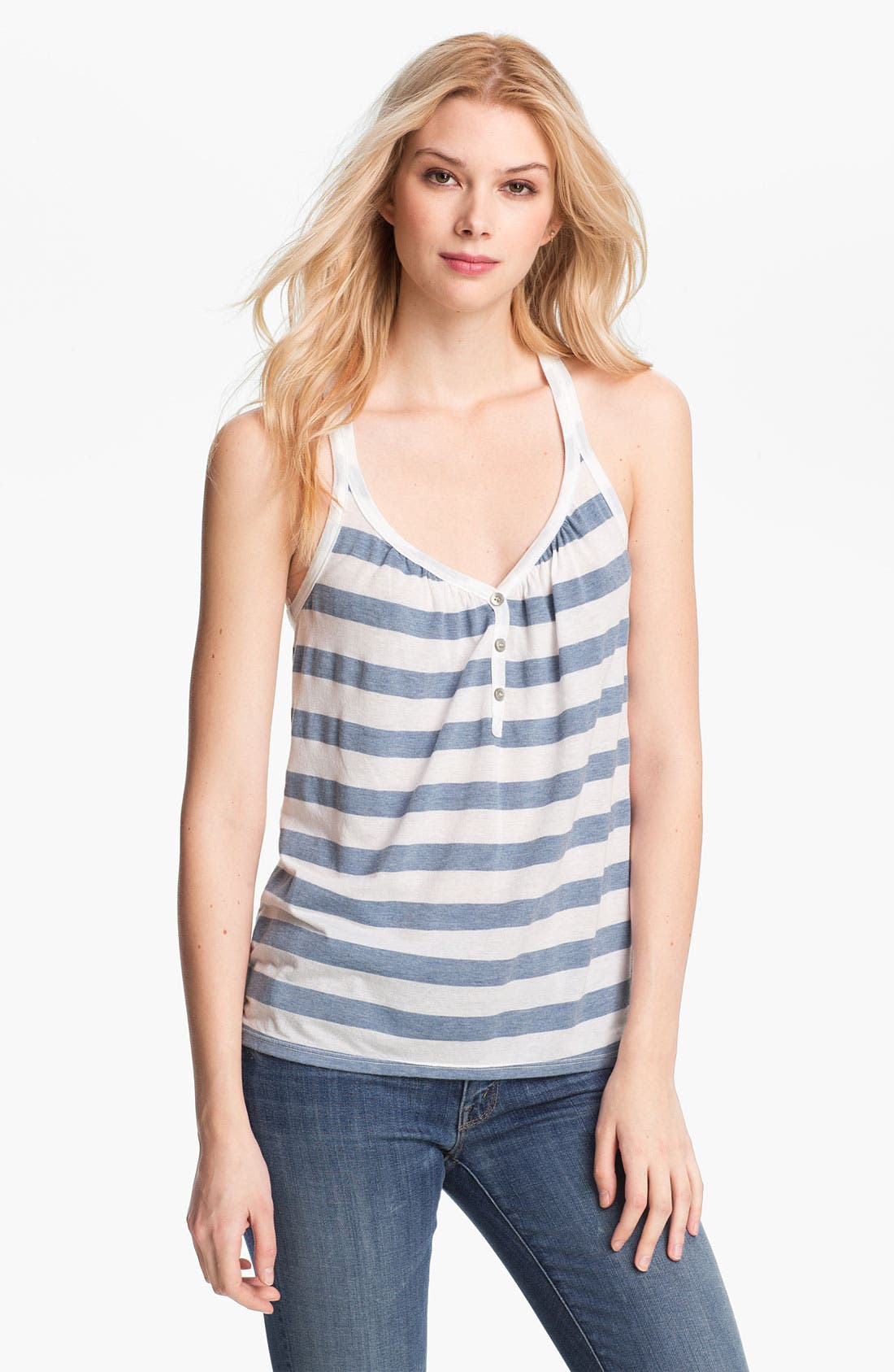 Alternate Image 1 Selected - Splendid 'Marseille' Stripe Henley Tank