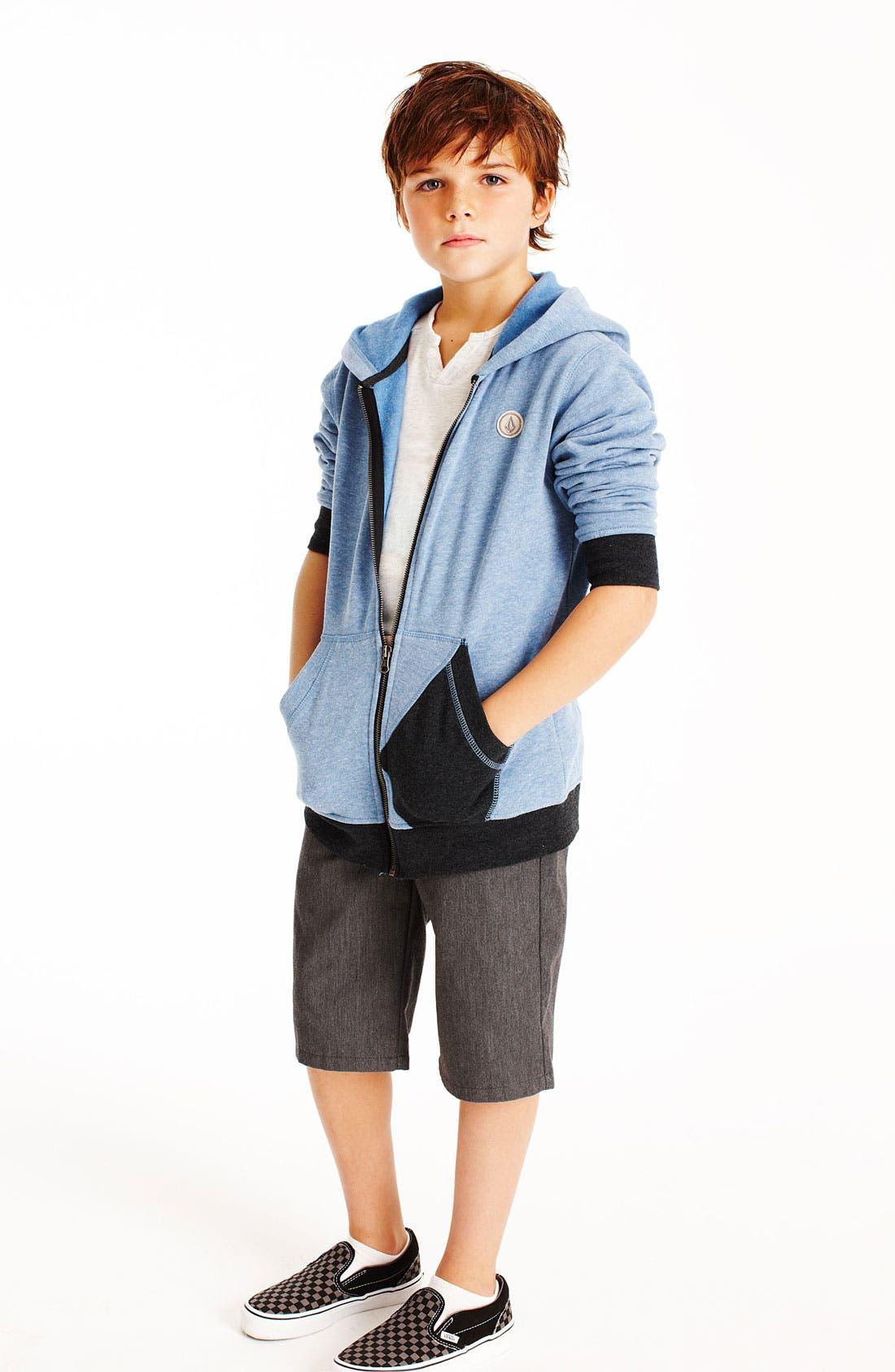 Alternate Image 1 Selected - Volcom T-Shirt & Shorts & Vans Sneaker (Big Boys)